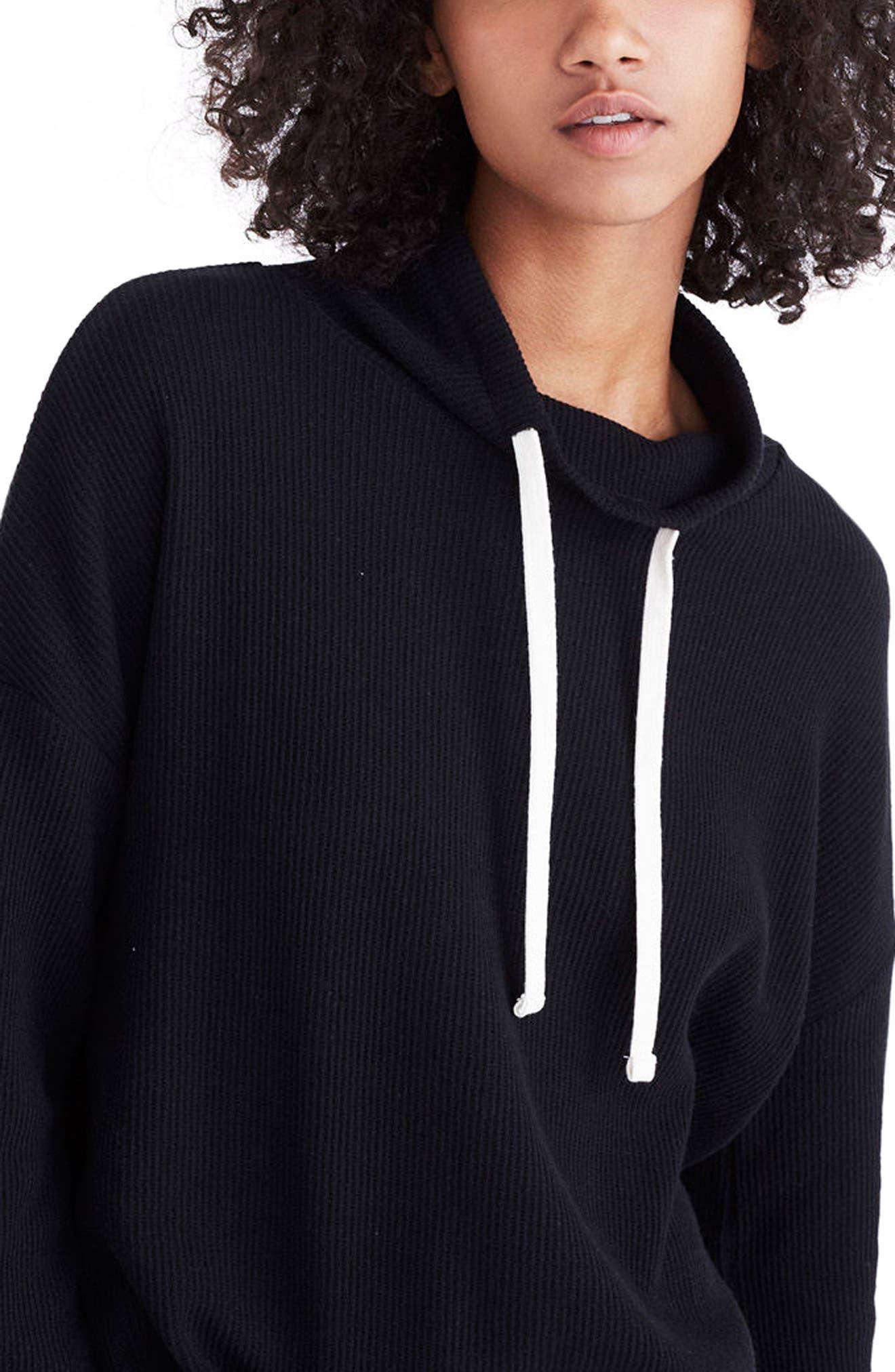 Alternate Image 3  - Madewell Funnel Neck Tie Sleeve Sweatshirt