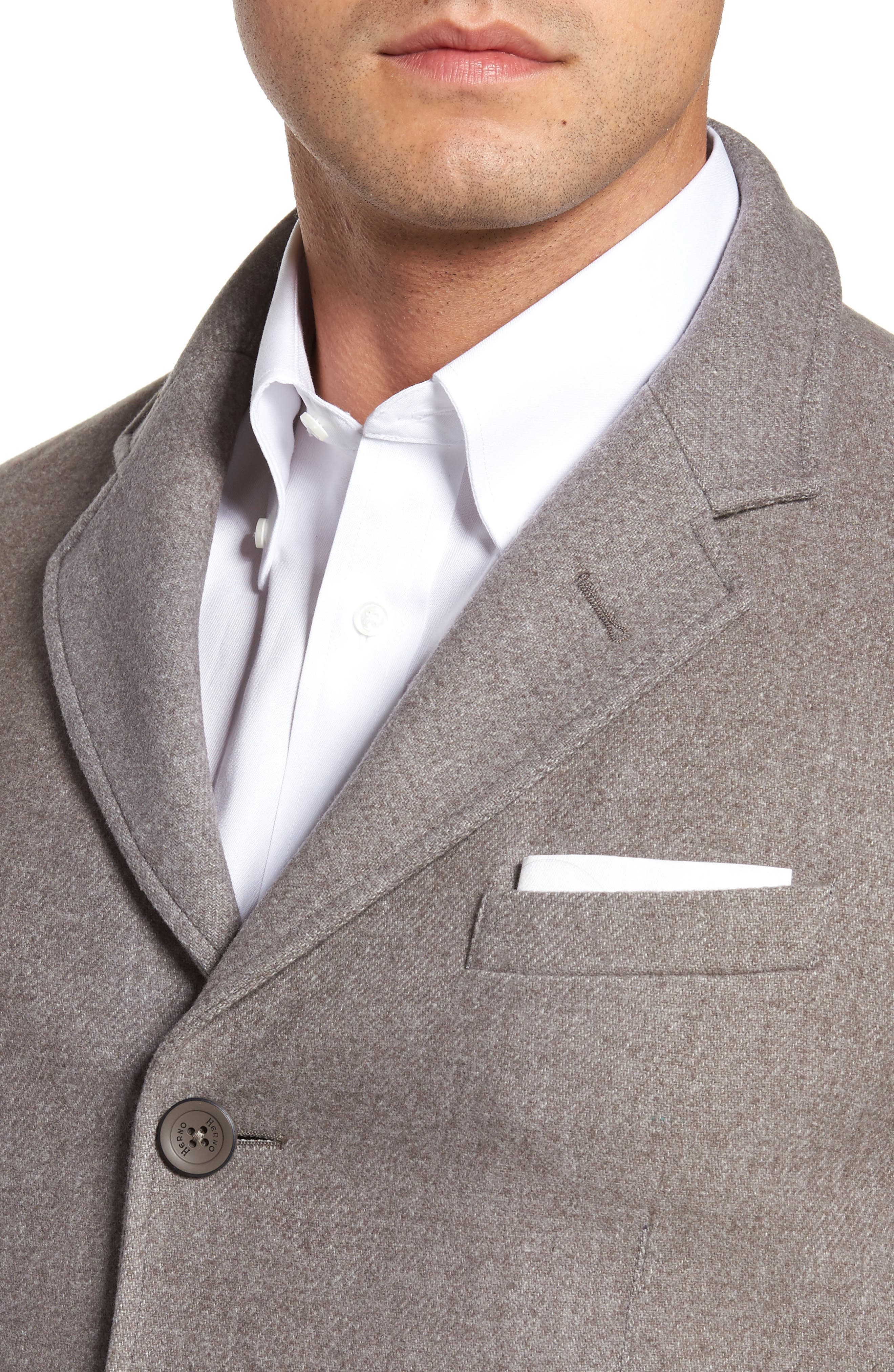 Wool Blend Blazer with Removable Quilted Bib,                             Alternate thumbnail 4, color,                             Oatmeal
