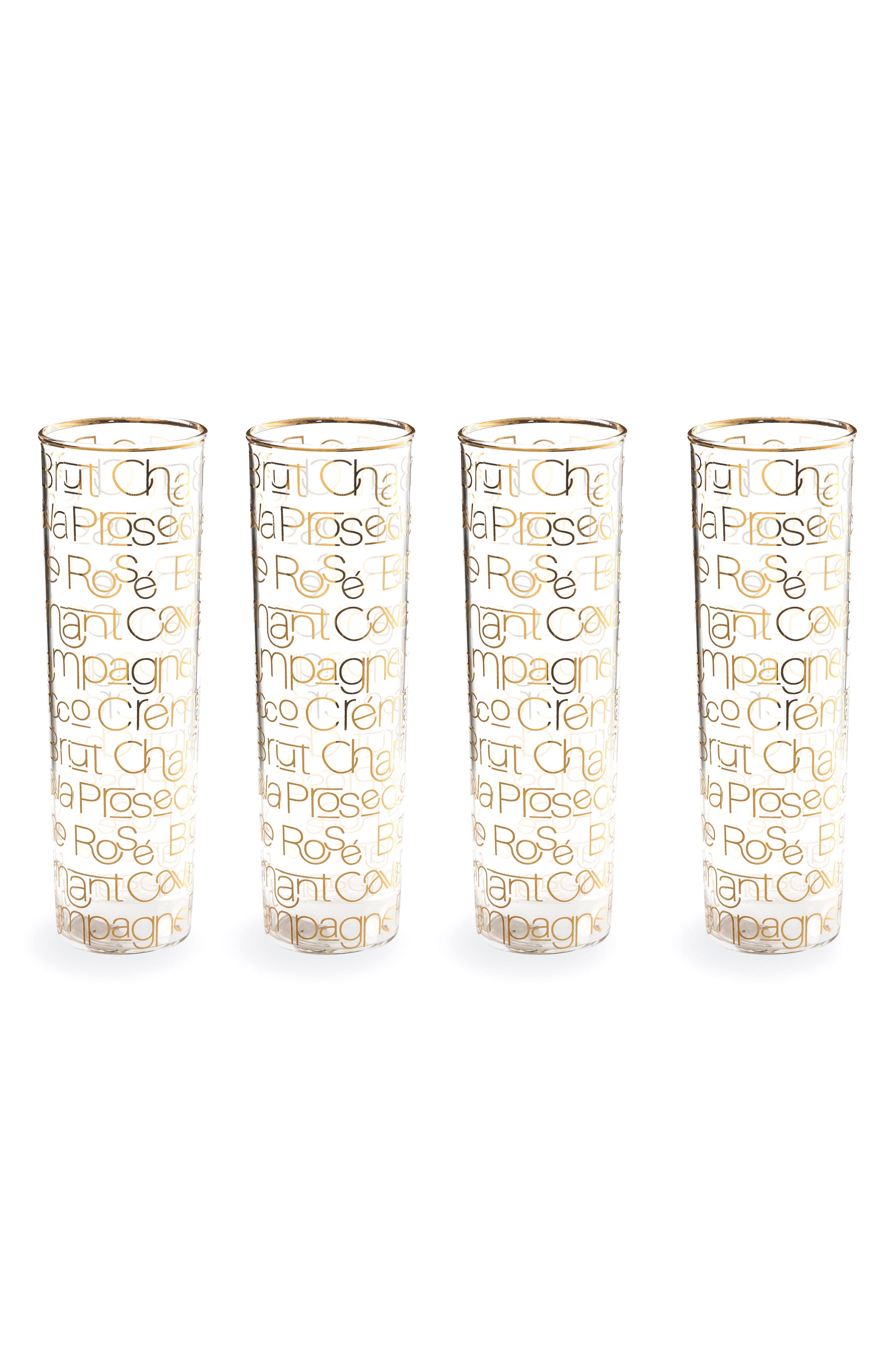 Rosanna Set of 4 Champagne Flutes