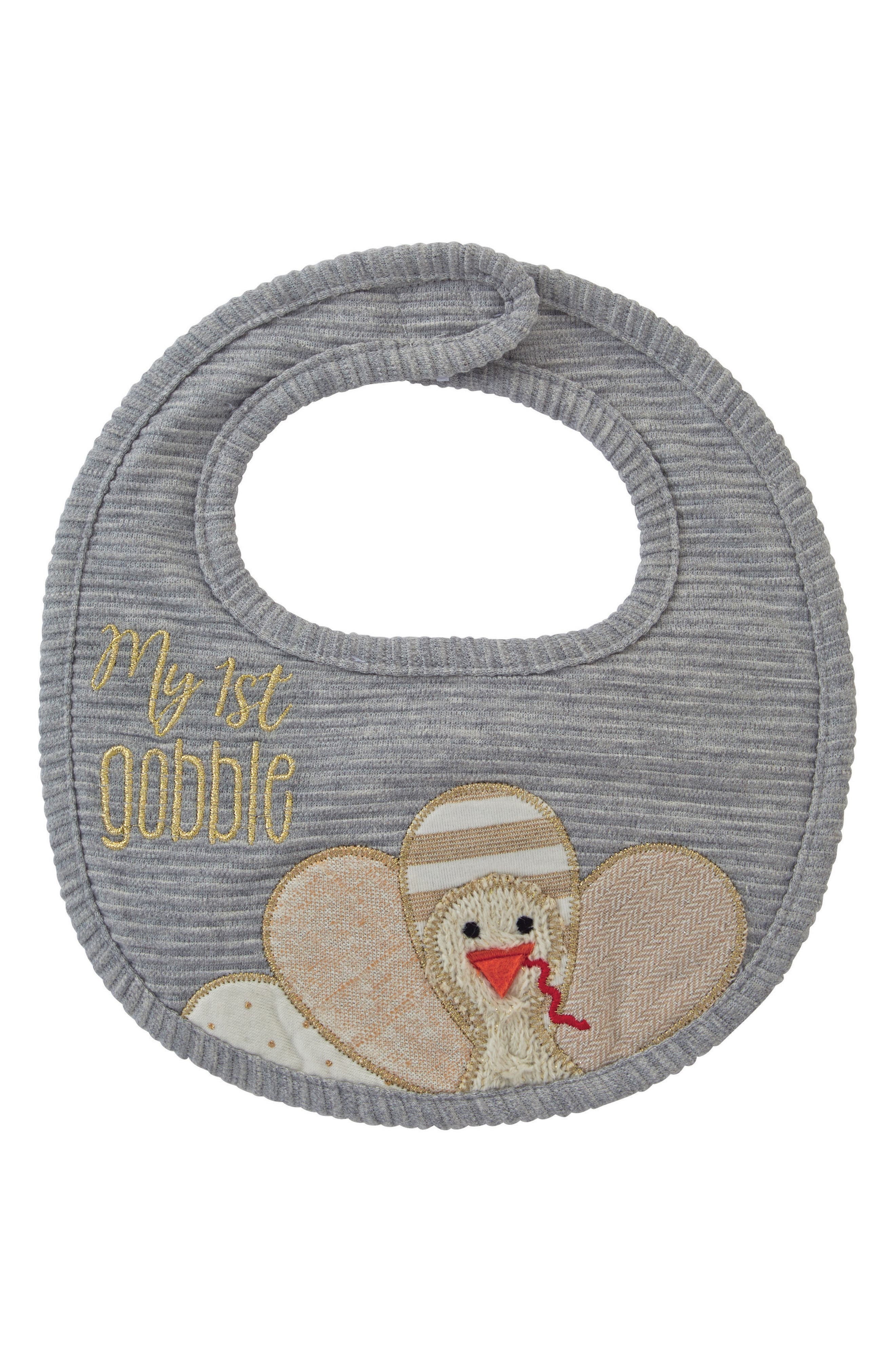 My First Thanksgiving Bib,                         Main,                         color, Grey