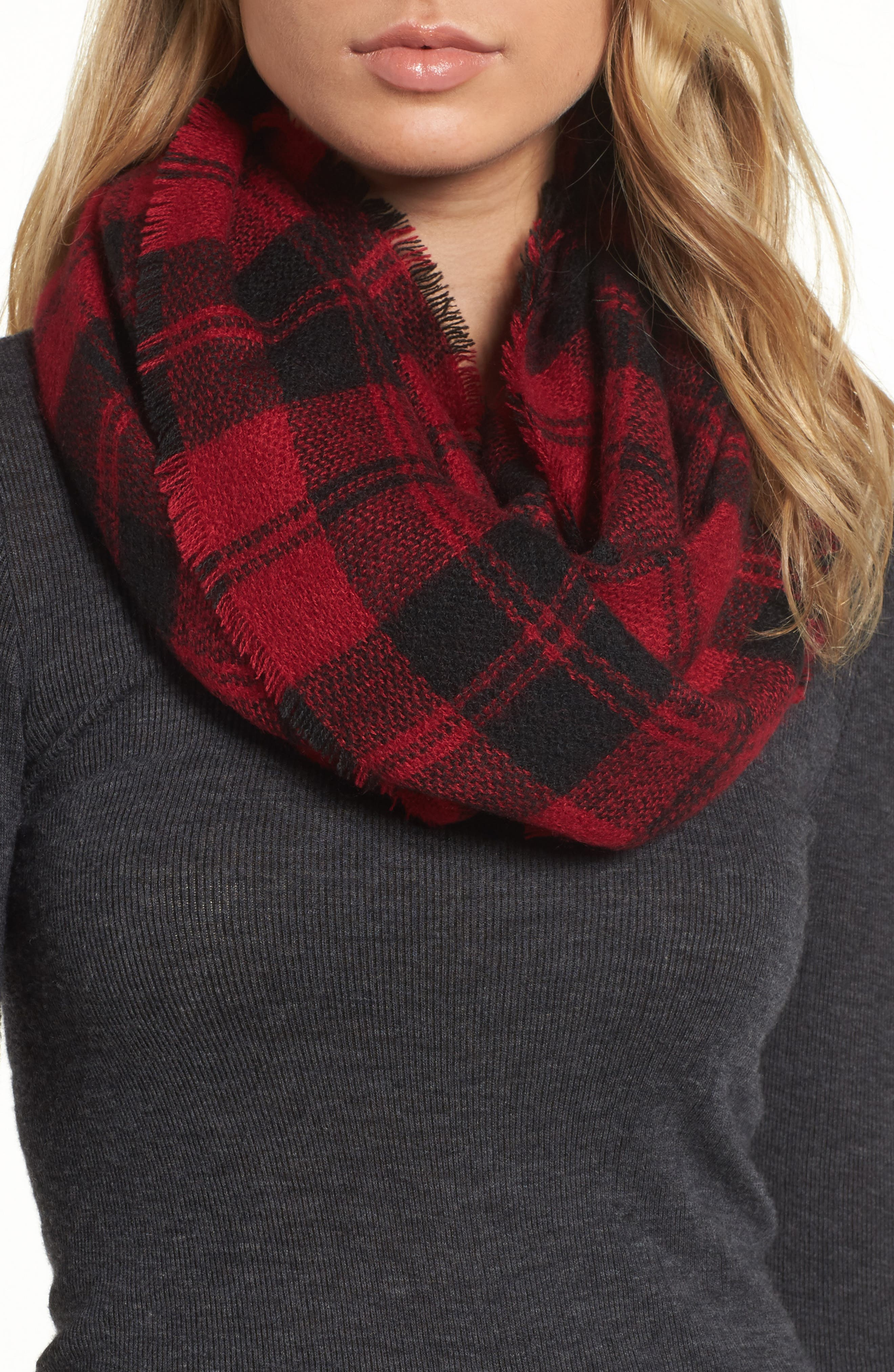 Collection XIIX Plaid Infinity Scarf