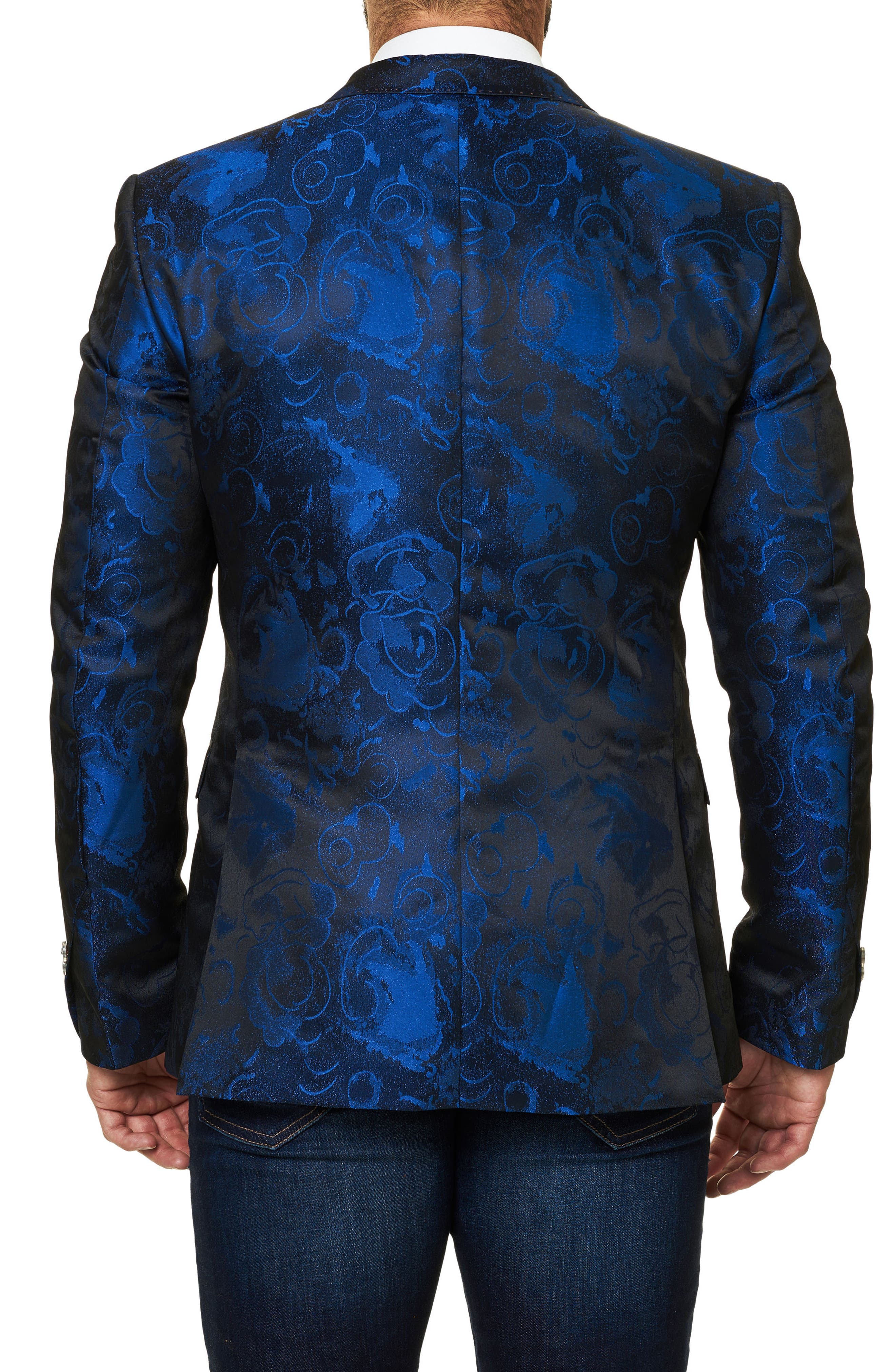 Socrate Jacquard Sport Coat,                             Alternate thumbnail 2, color,                             Medium Blue