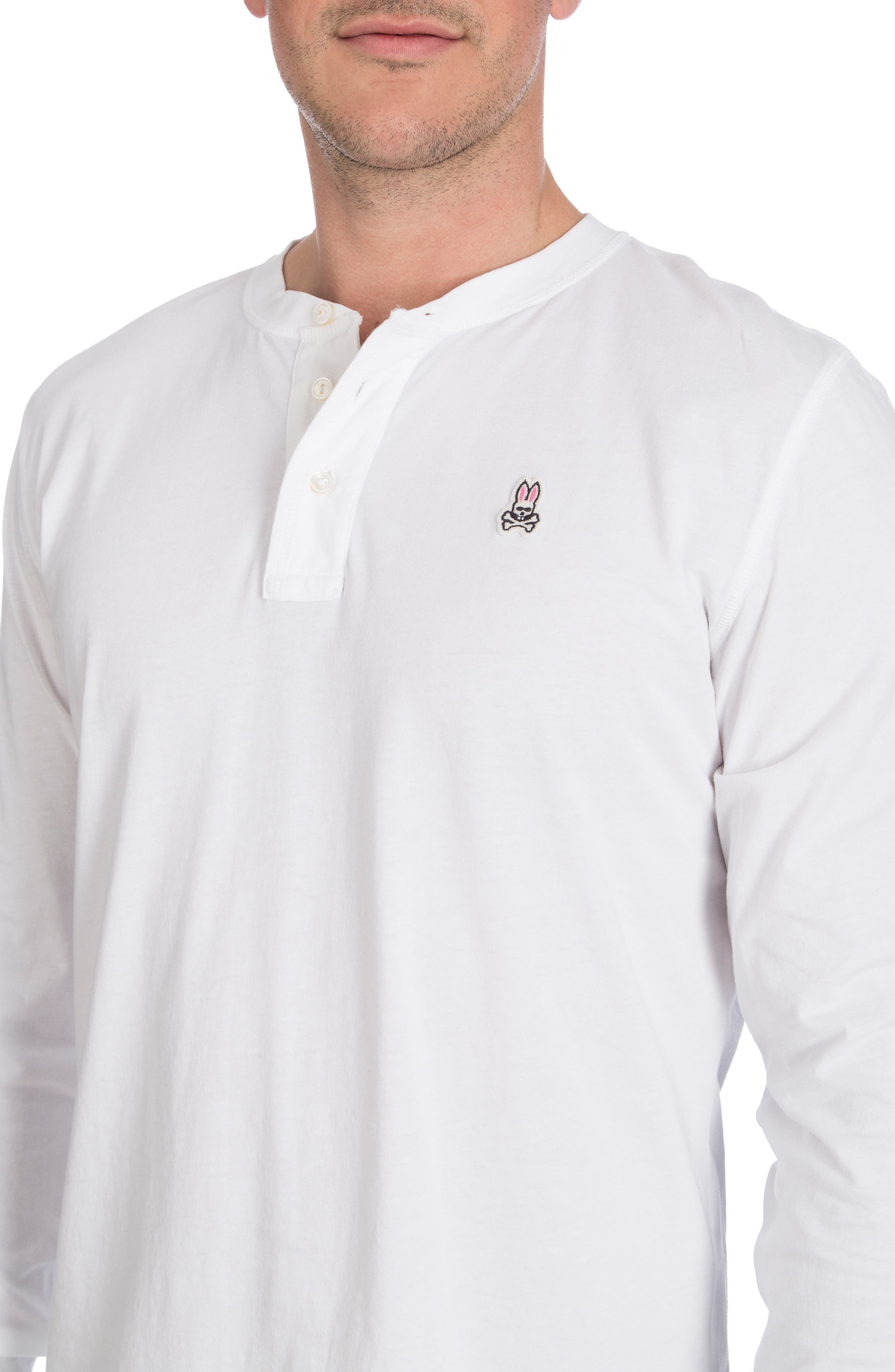 Biltmore Henley T-Shirt,                             Alternate thumbnail 3, color,                             White