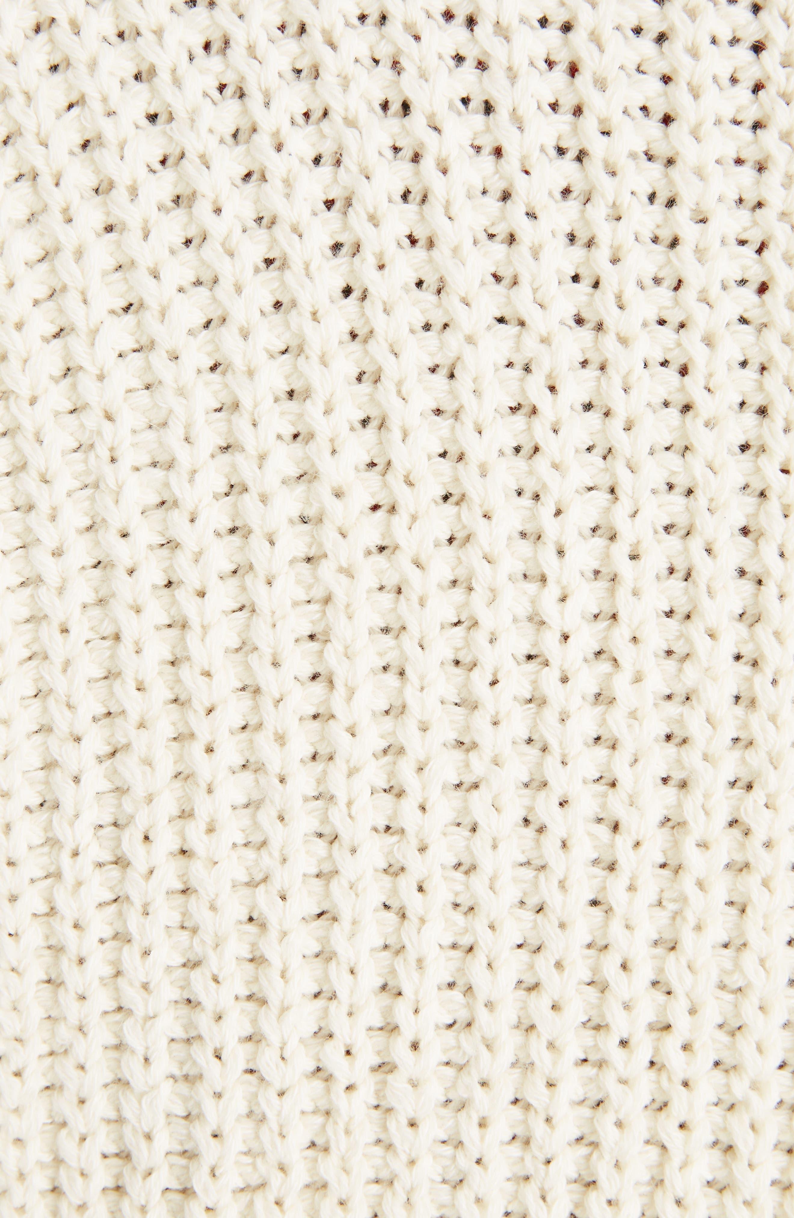 Laley Cotton & Wool Blend Sweater,                             Alternate thumbnail 5, color,                             Ecru