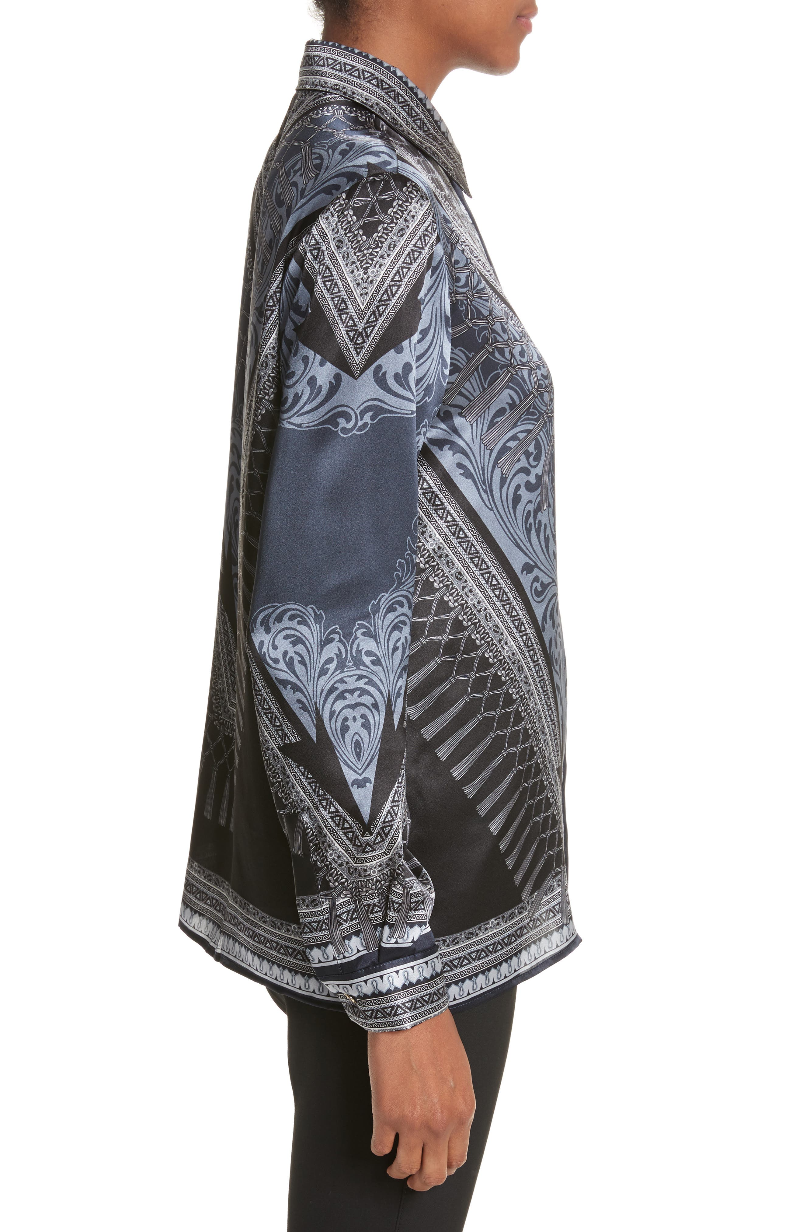 Alternate Image 3  - Versace Collection Scarf Print Silk Blouse