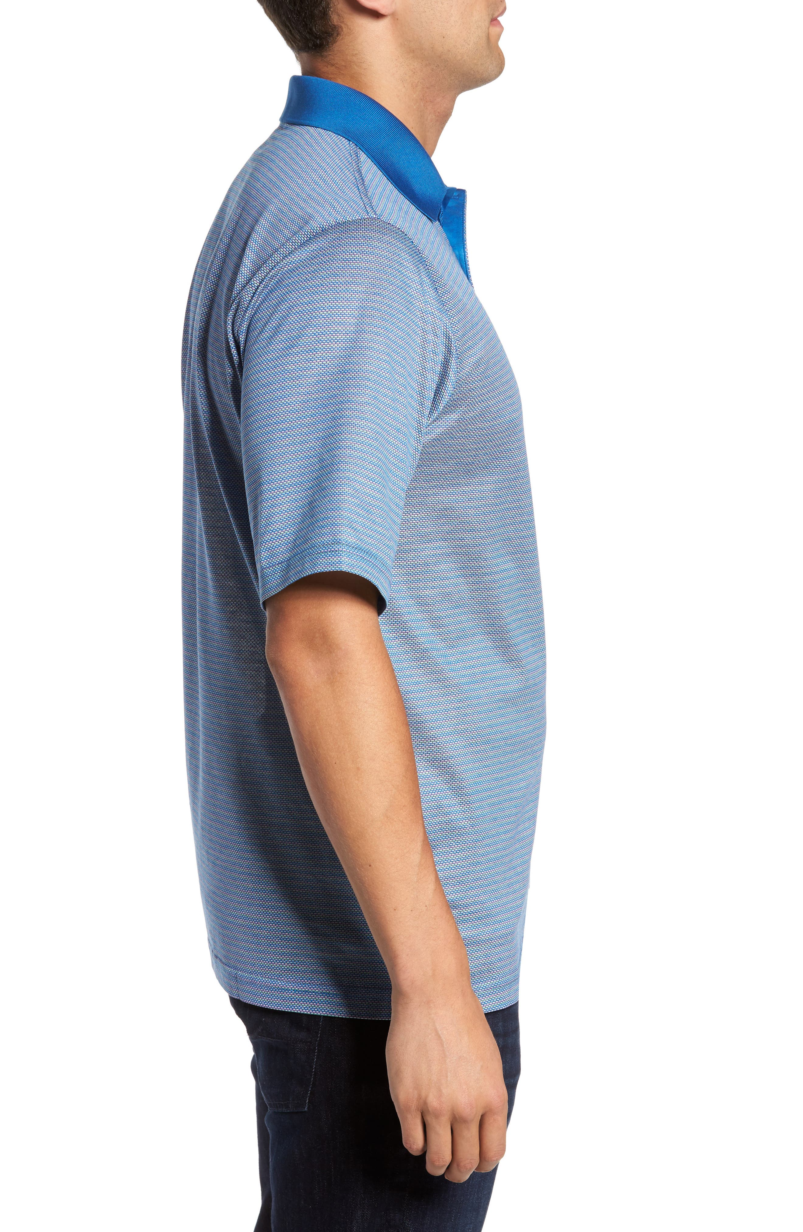 Classic Fit Dobby Polo,                             Alternate thumbnail 3, color,                             Classic Blue