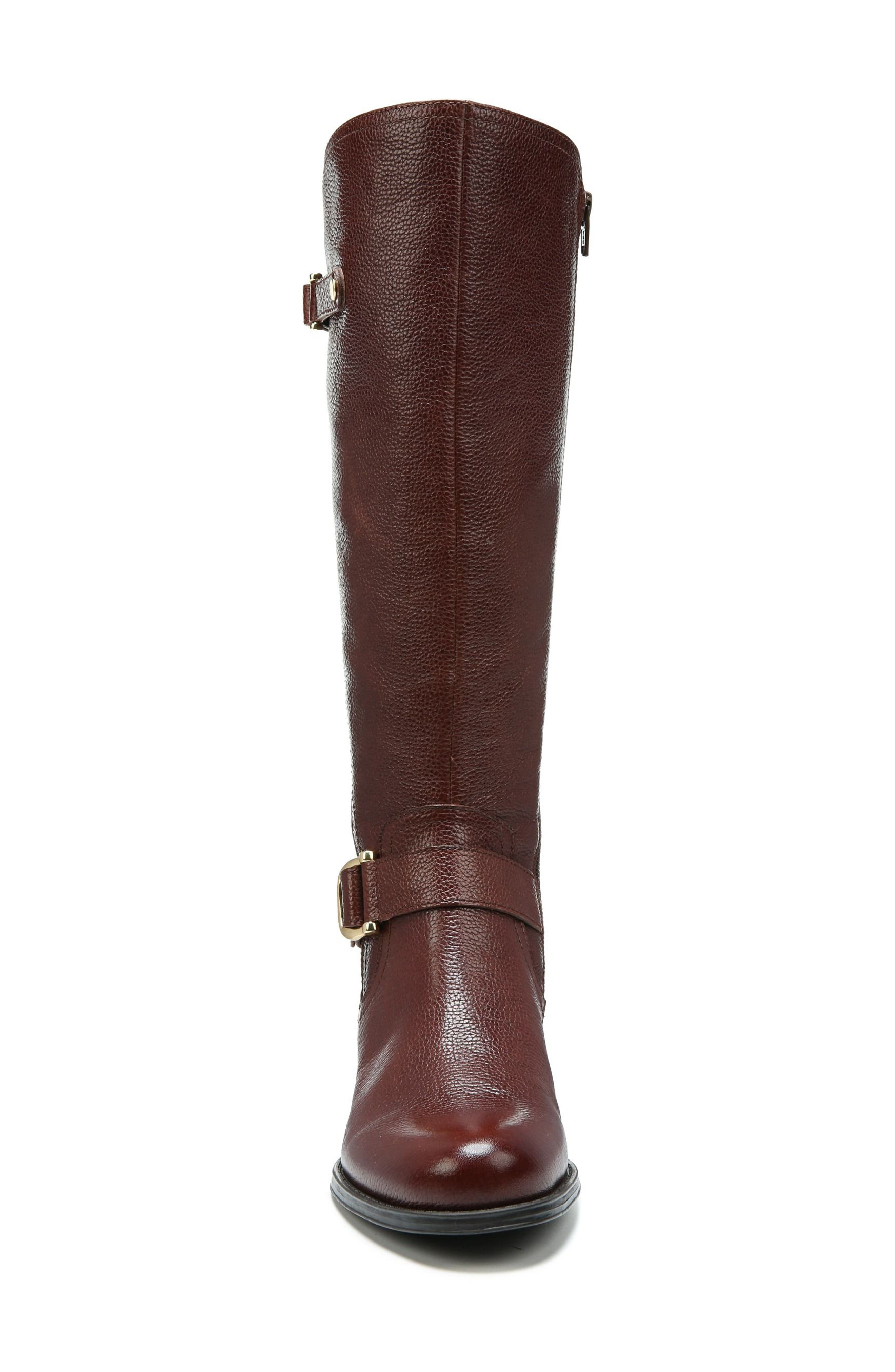 Jenelle Tall Boot,                             Alternate thumbnail 4, color,                             Brown Leather
