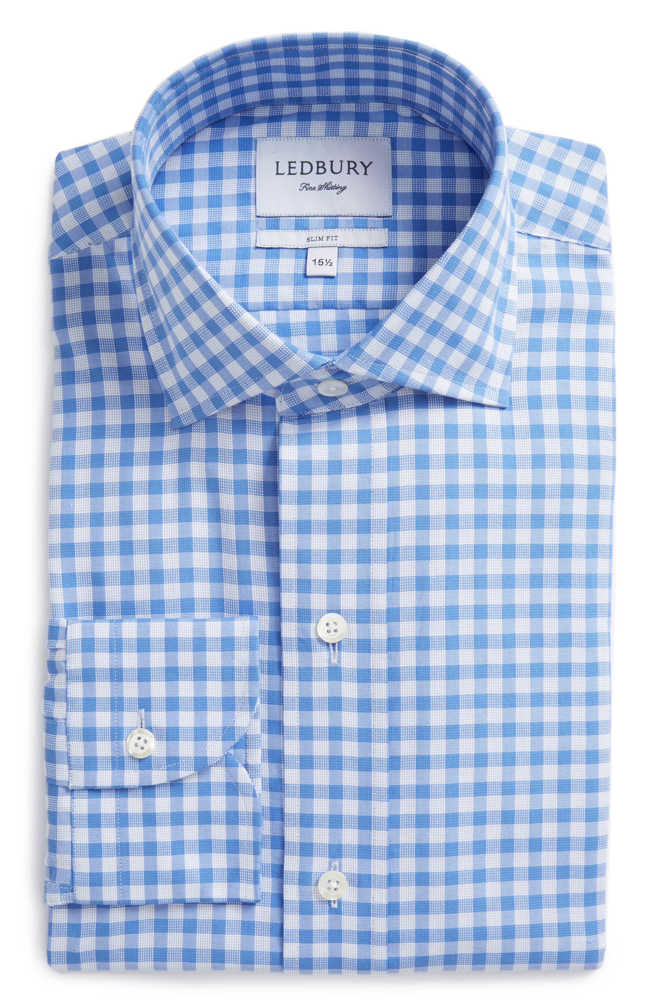 Main Image - Ledbury Slim Fit Check Dress Shirt