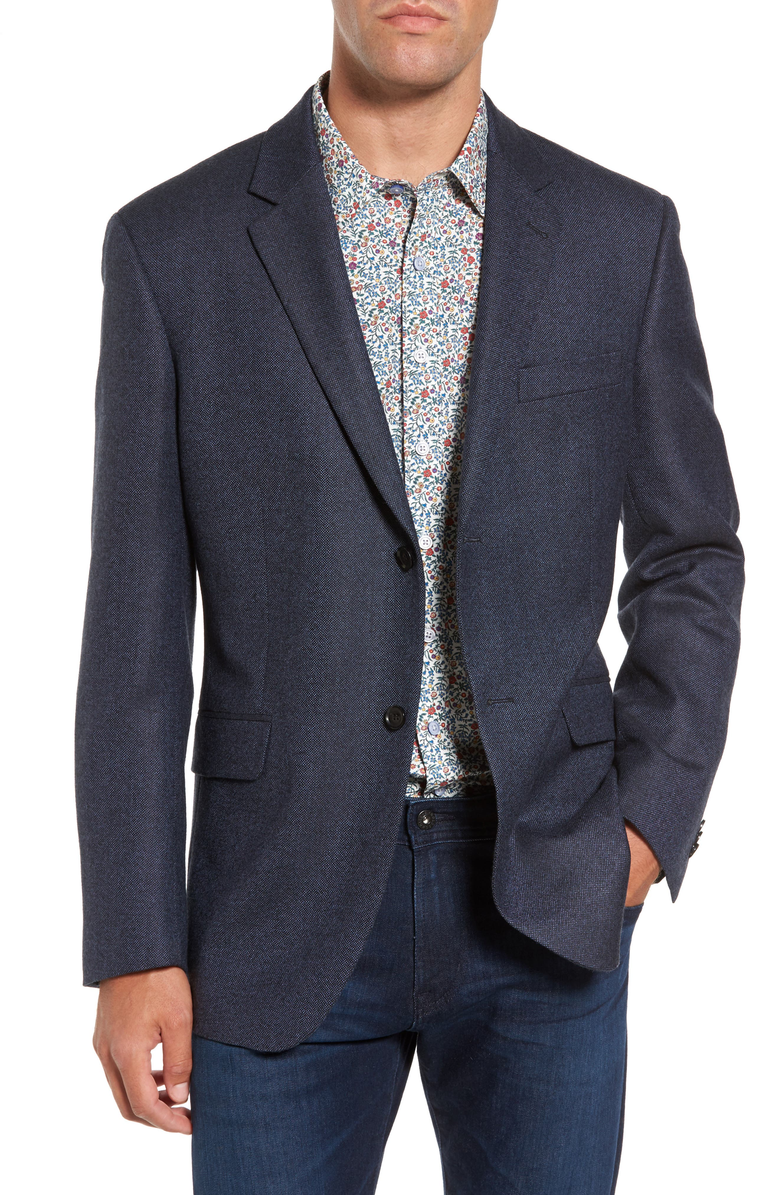 Slingsby Virgin Wool Sport Coat,                         Main,                         color, Twilight