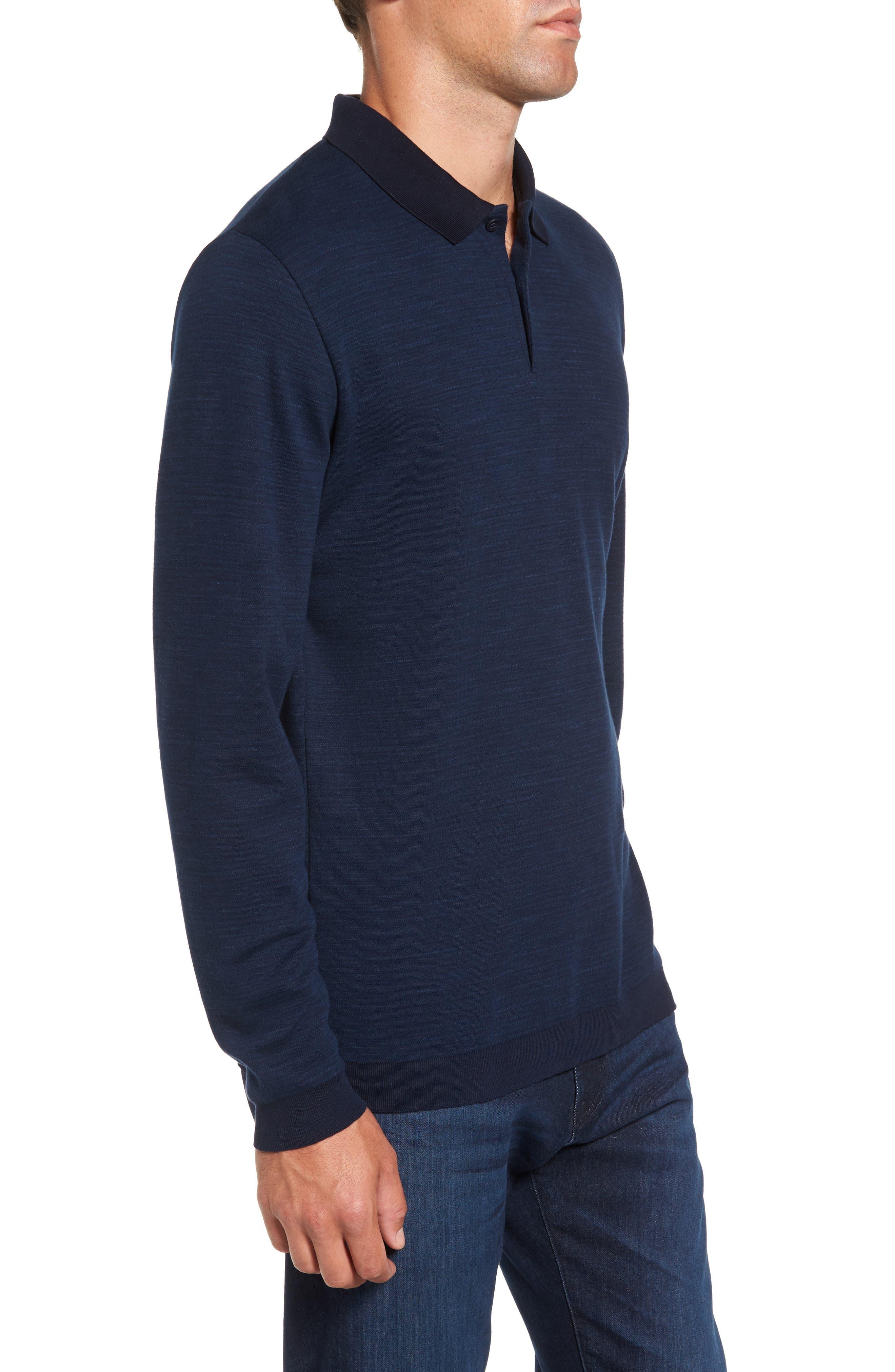 Shelton Cotton Sweater,                             Alternate thumbnail 3, color,                             Ocean