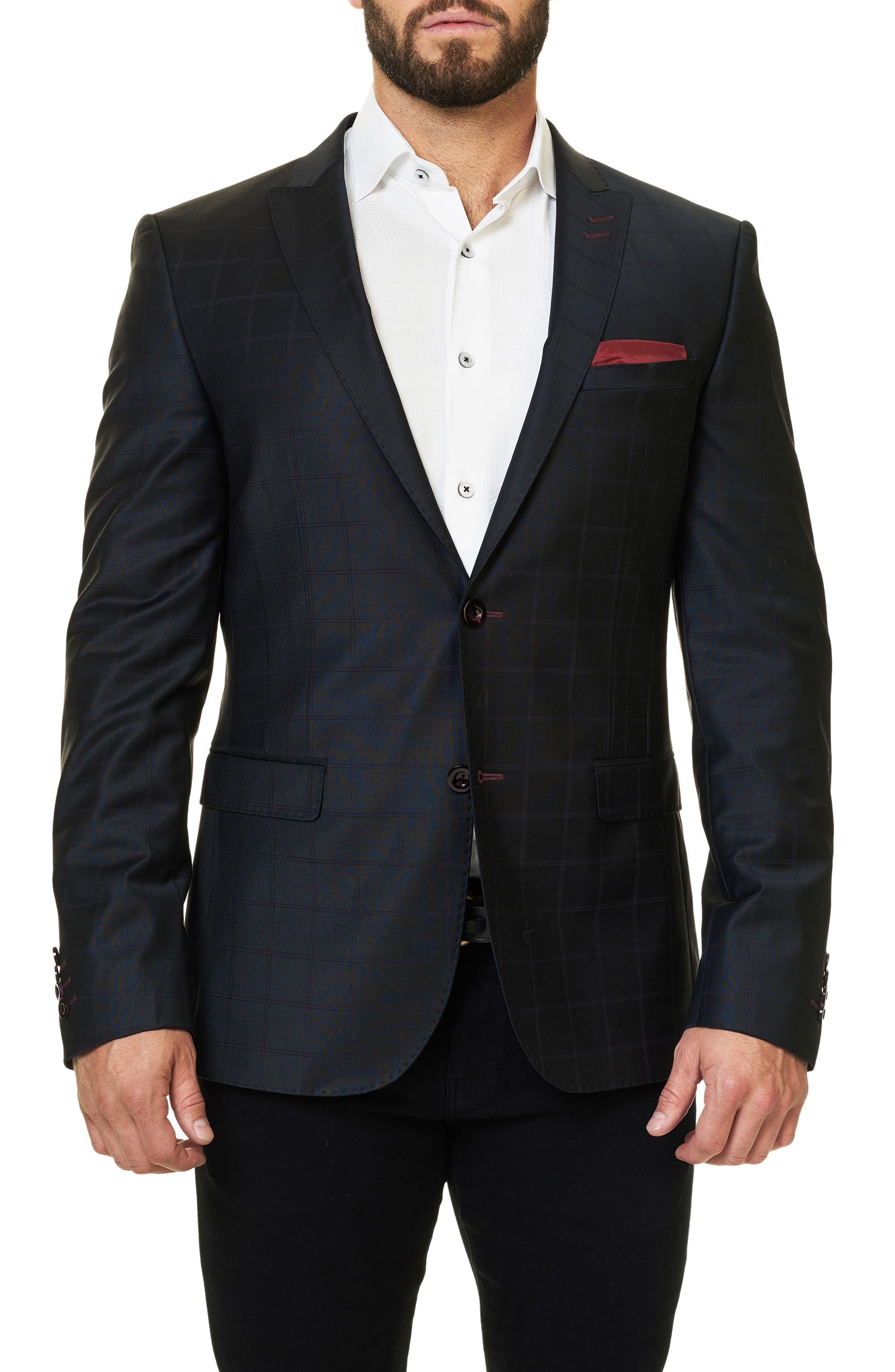 Maceoo Descarte Windowpane Sport Coat