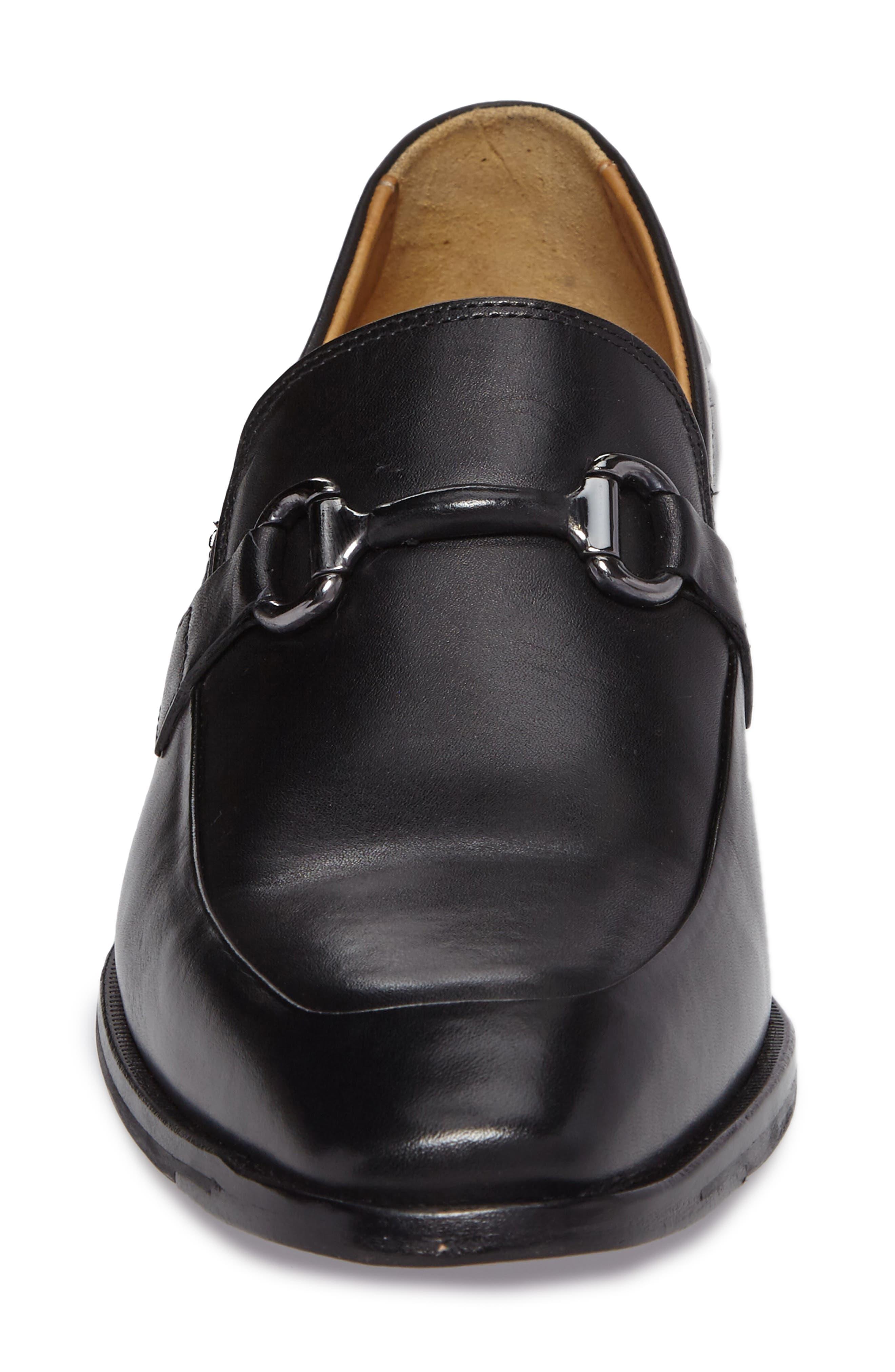 McClain Bit Loafer,                             Alternate thumbnail 4, color,                             Black