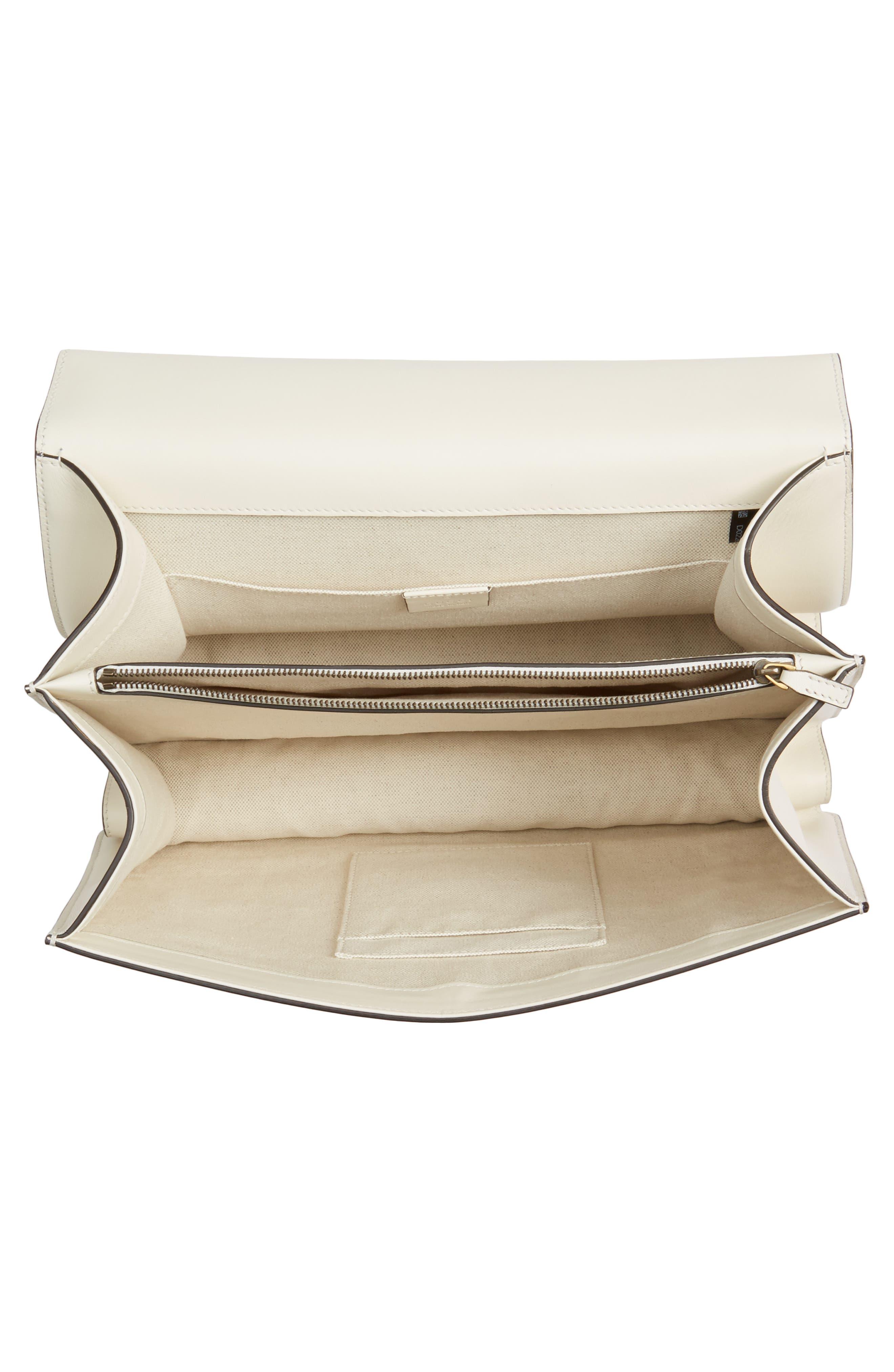 Large Dionysus Top Handle Leather Shoulder Bag,                             Alternate thumbnail 4, color,                             Mystic White/ Blue/ Red