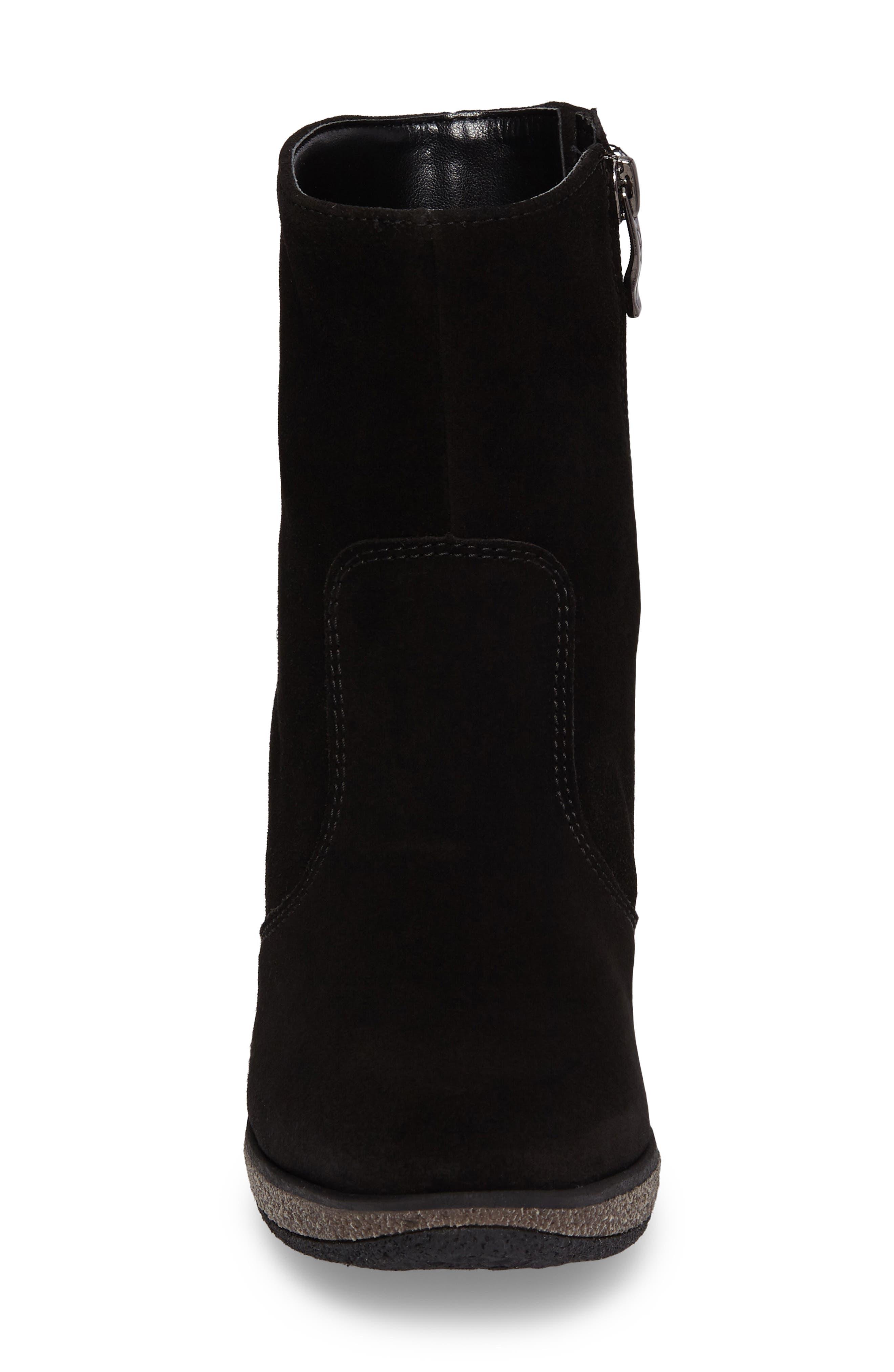 Bristol Bootie,                             Alternate thumbnail 4, color,                             Black Leather