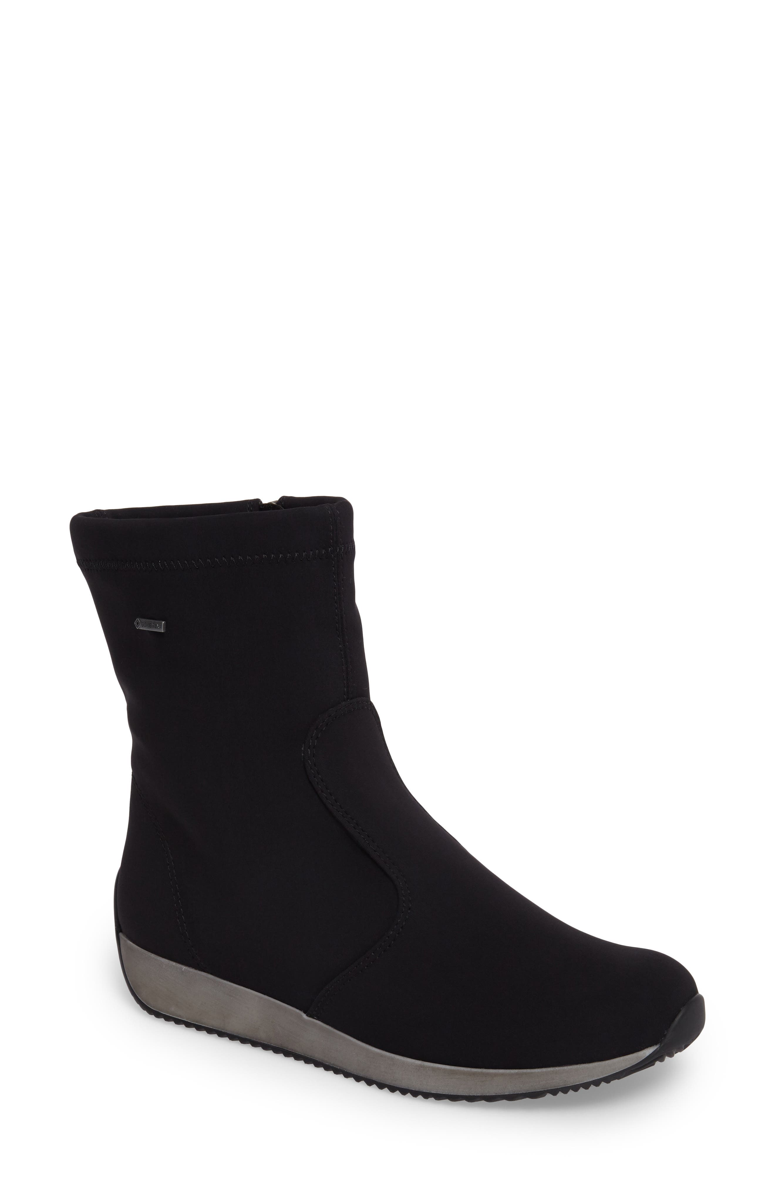 Luella Waterproof Gore-Tex<sup>®</sup> Boot,                             Main thumbnail 1, color,                             Black Textile
