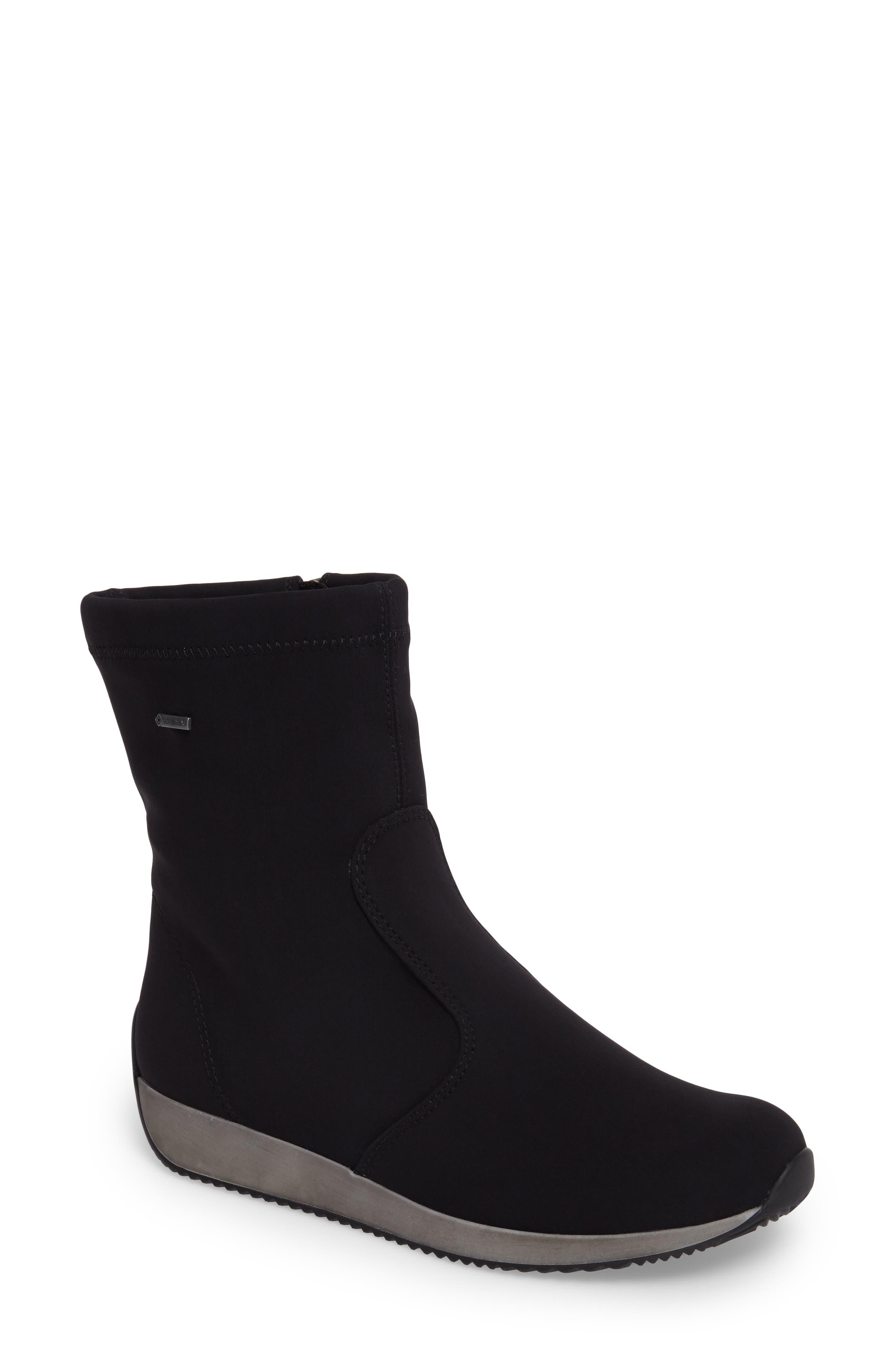 Luella Waterproof Gore-Tex<sup>®</sup> Boot,                         Main,                         color, Black Textile