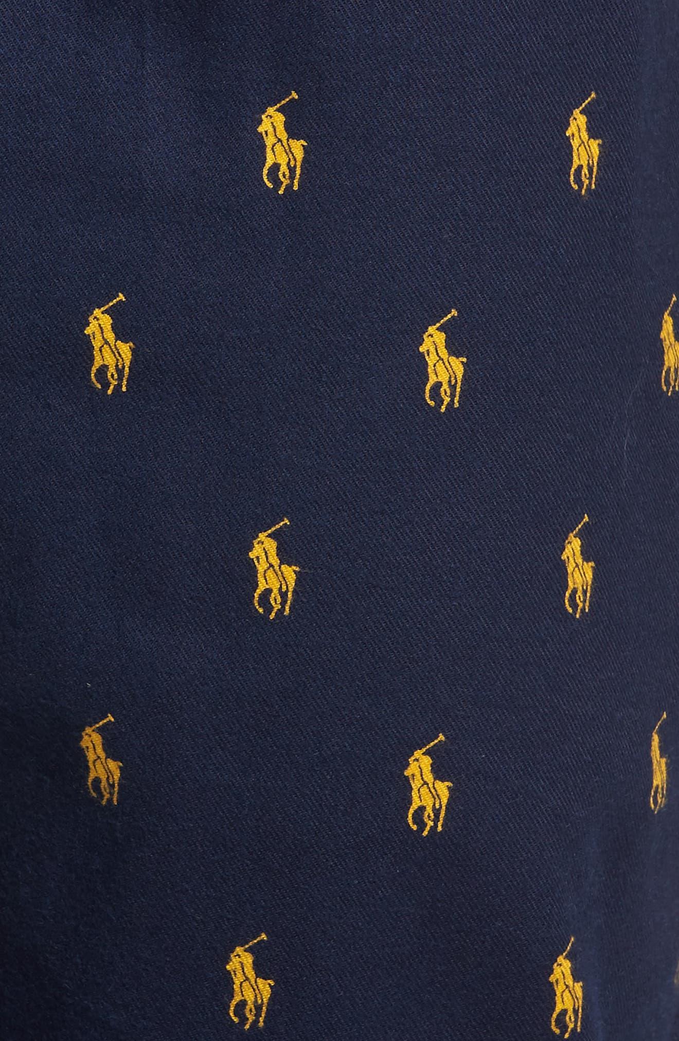 Alternate Image 5  - Polo Ralph Lauren Flannel Cotton Jogger Pants