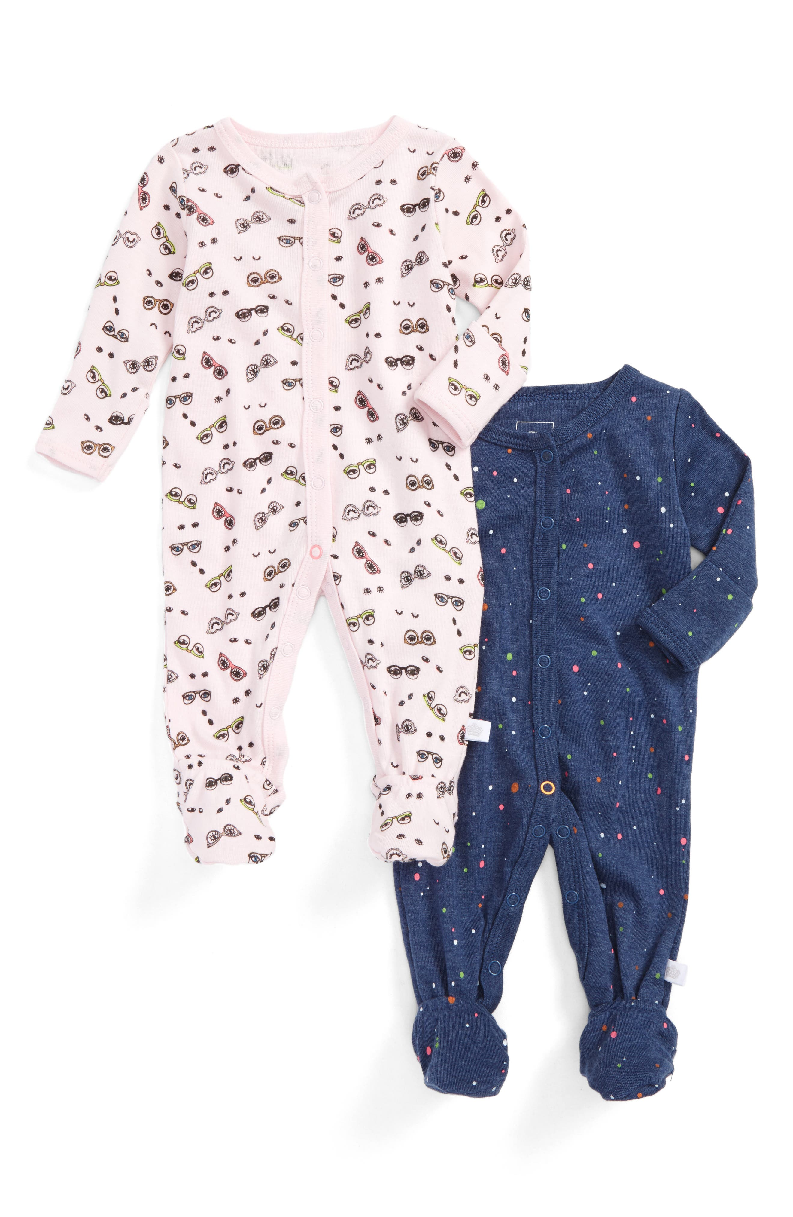 2-Pack Footies,                             Main thumbnail 1, color,                             Pink
