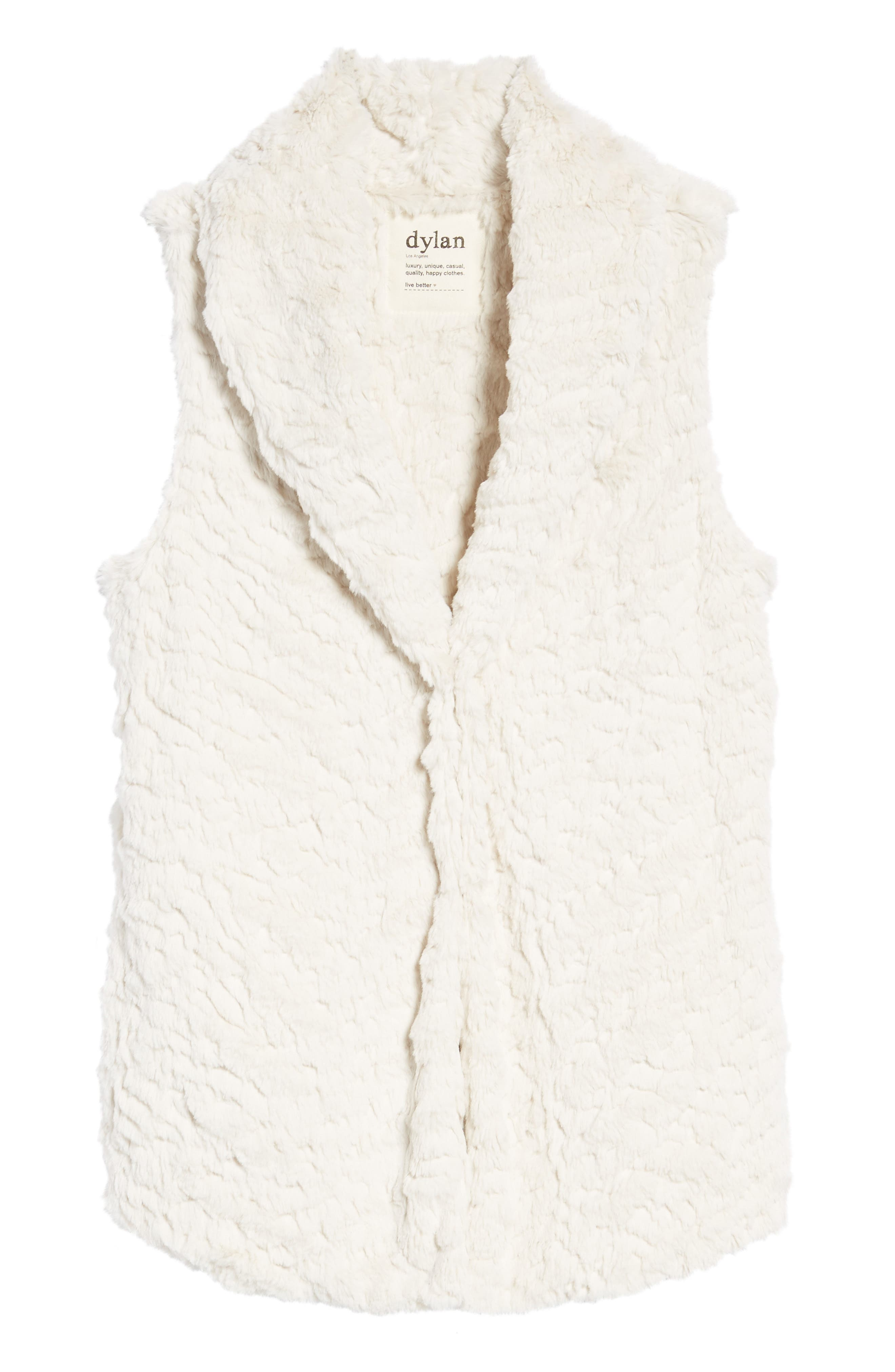 Alternate Image 6  - Dylan Silky Faux Fur Shawl Collar Vest
