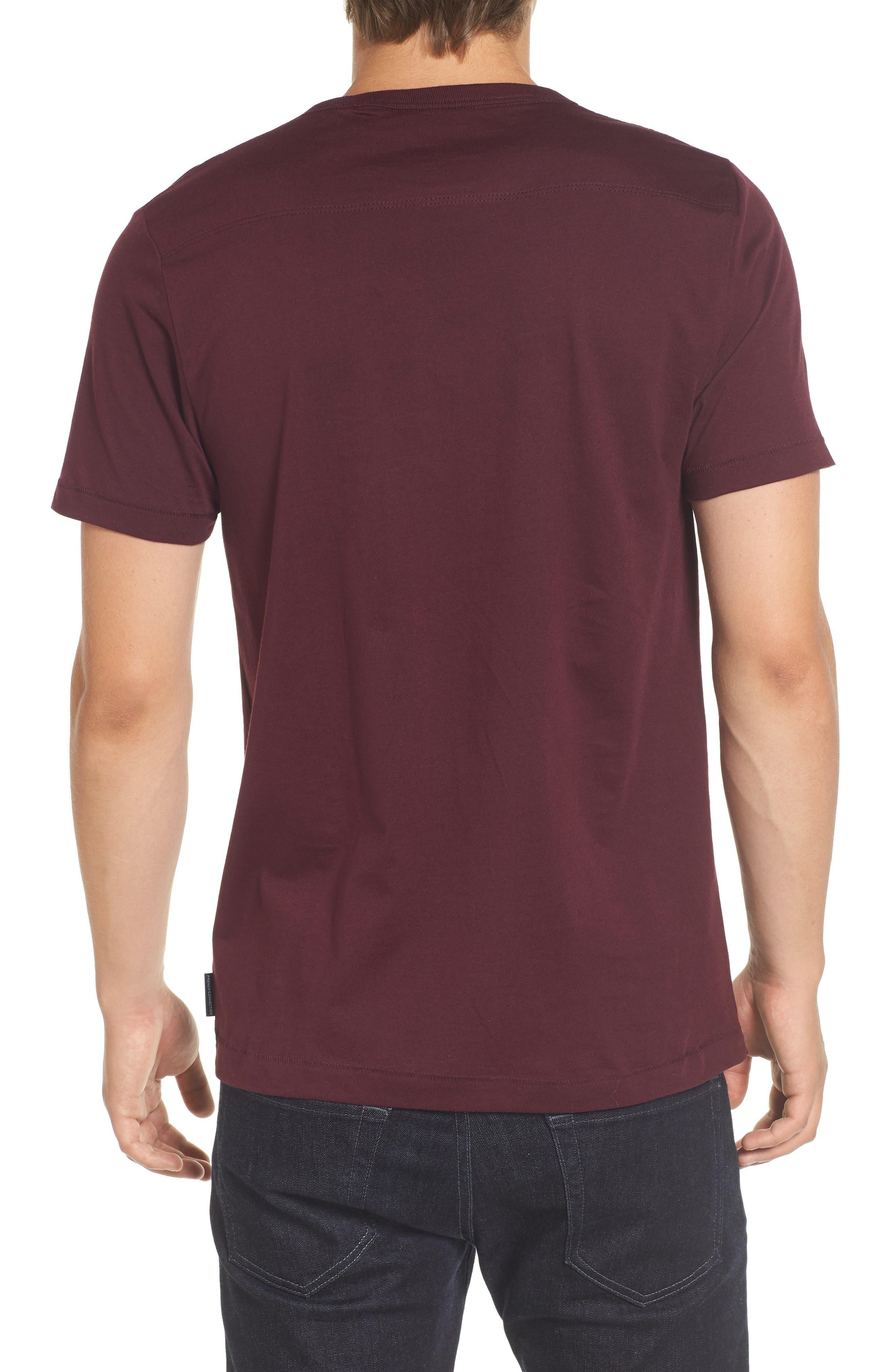 Slim Fit Crewneck T-Shirt,                             Alternate thumbnail 2, color,                             Bordeaux