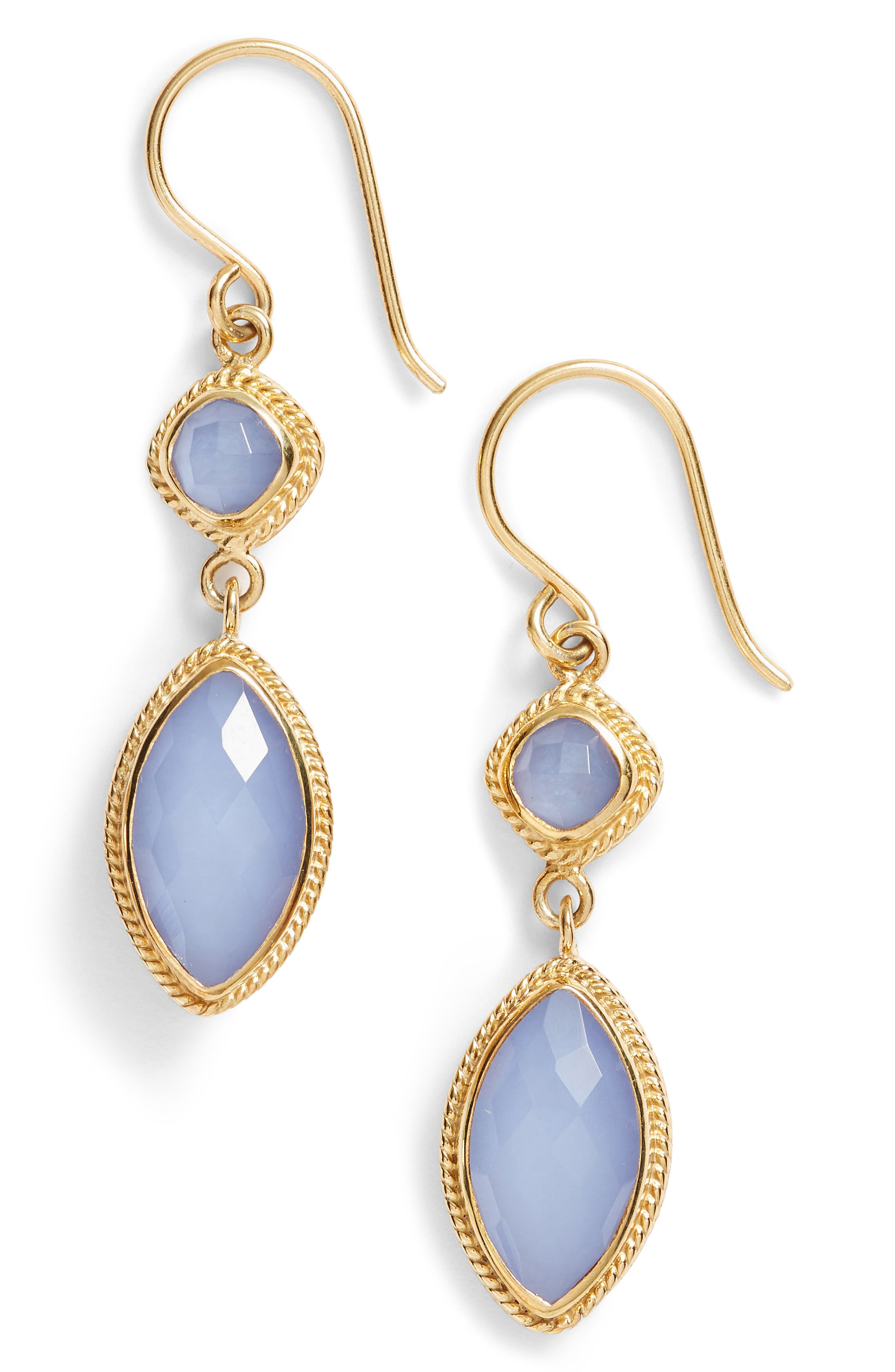 Anna Beck Double Drop Semiprecious Stone Earrings