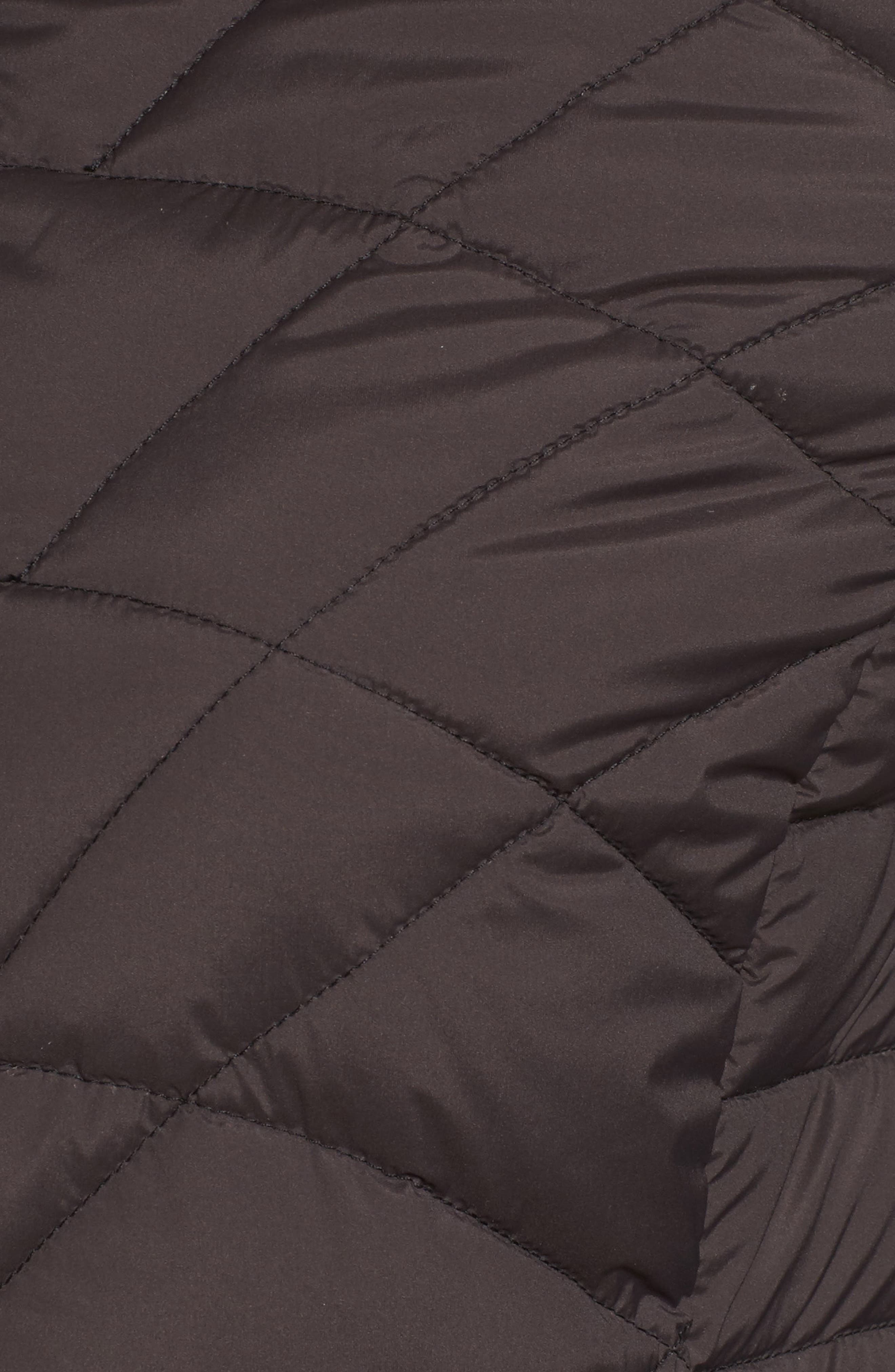 Packable Hooded Down & PrimaLoft<sup>®</sup> Walker Jacket,                             Alternate thumbnail 5, color,                             Black