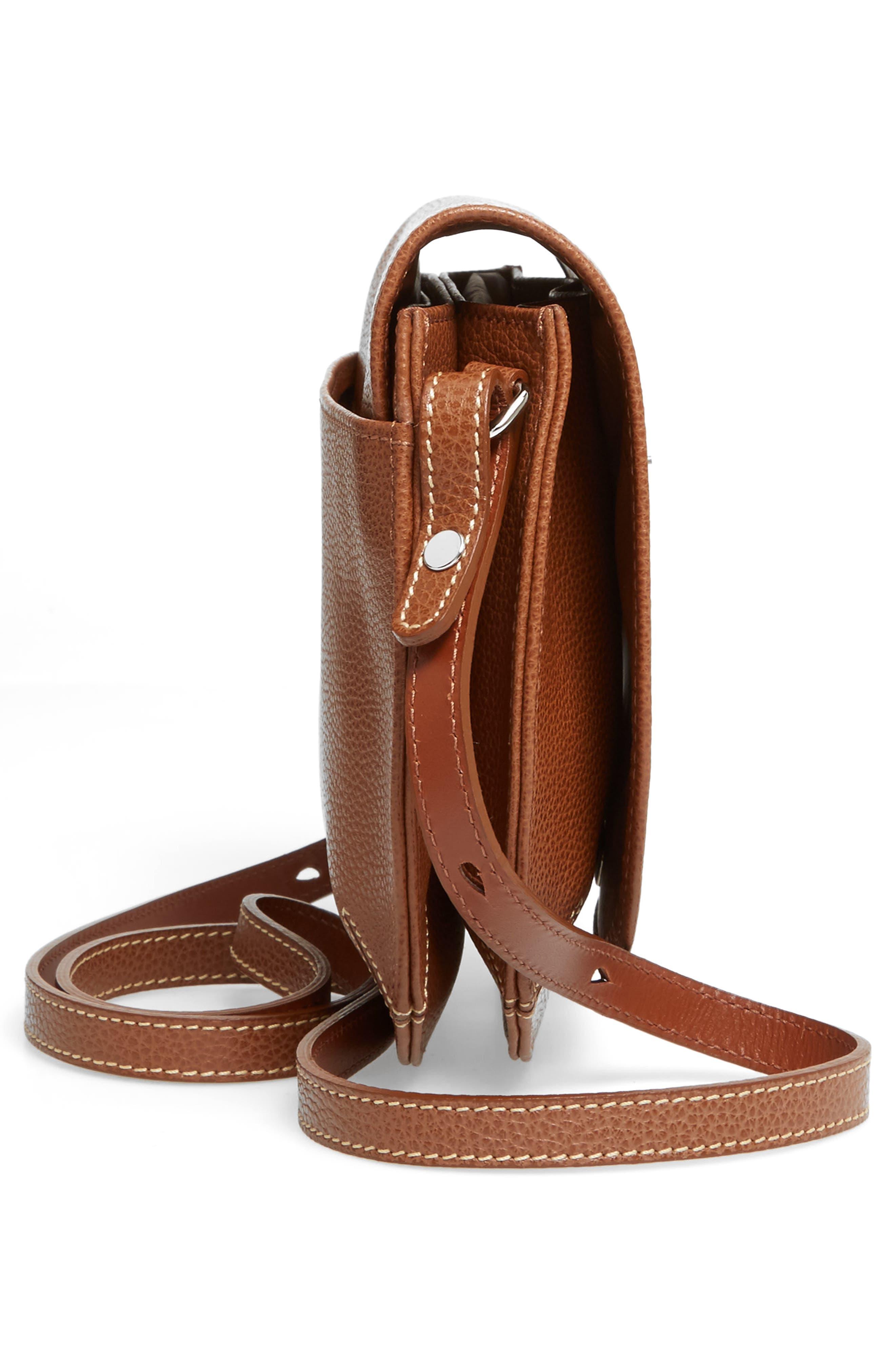 Alternate Image 5  - Longchamp Small Le Foulonne Leather Crossbody Bag