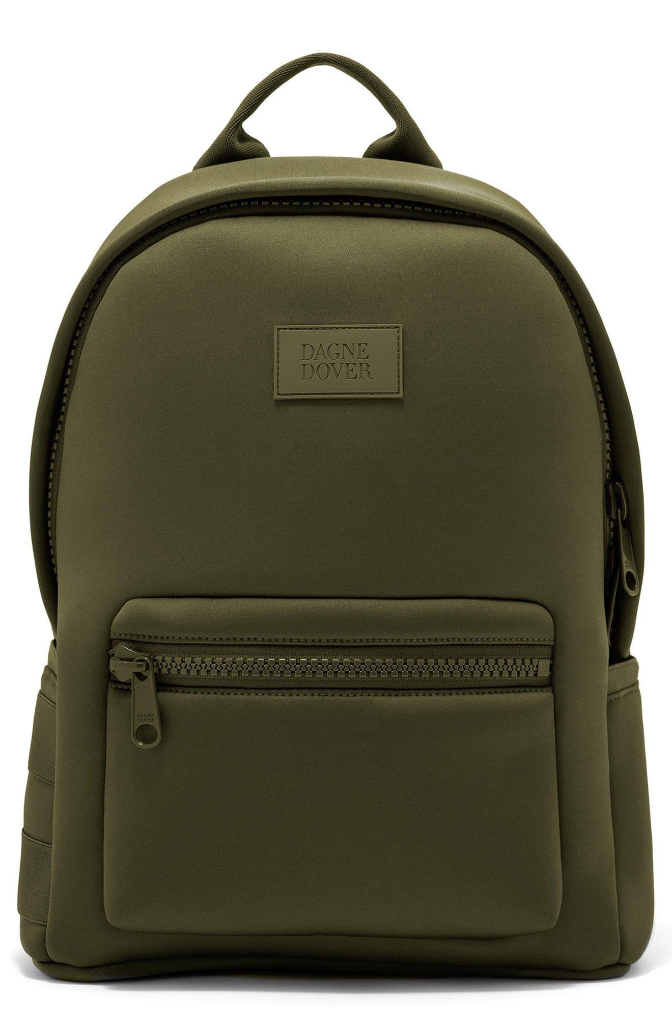 365 Dakota Neoprene Backpack,                         Main,                         color, Dark Moss
