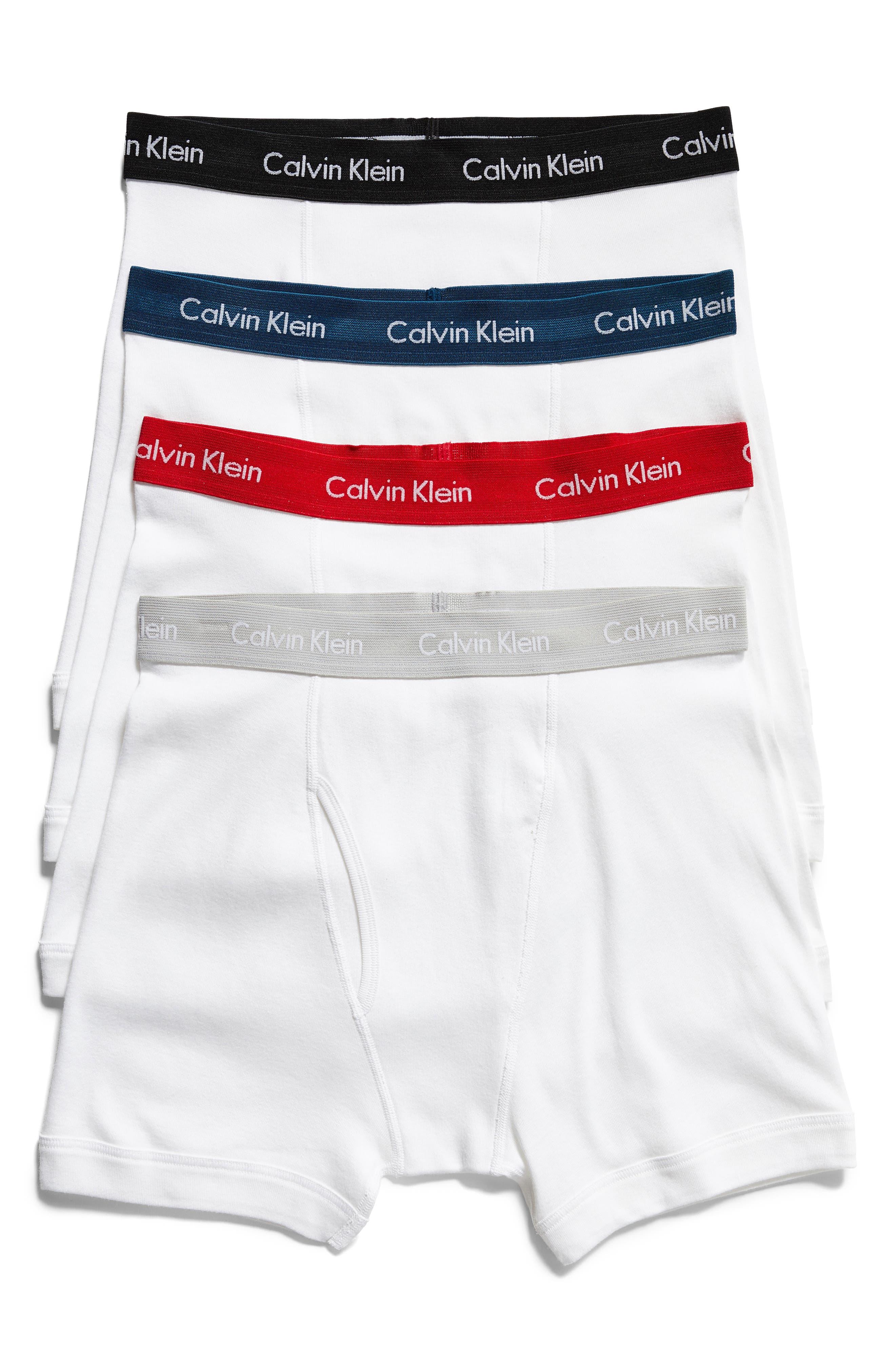 Alternate Image 1 Selected - Calvin Klein Classic 4-Pack Cotton Boxer Briefs