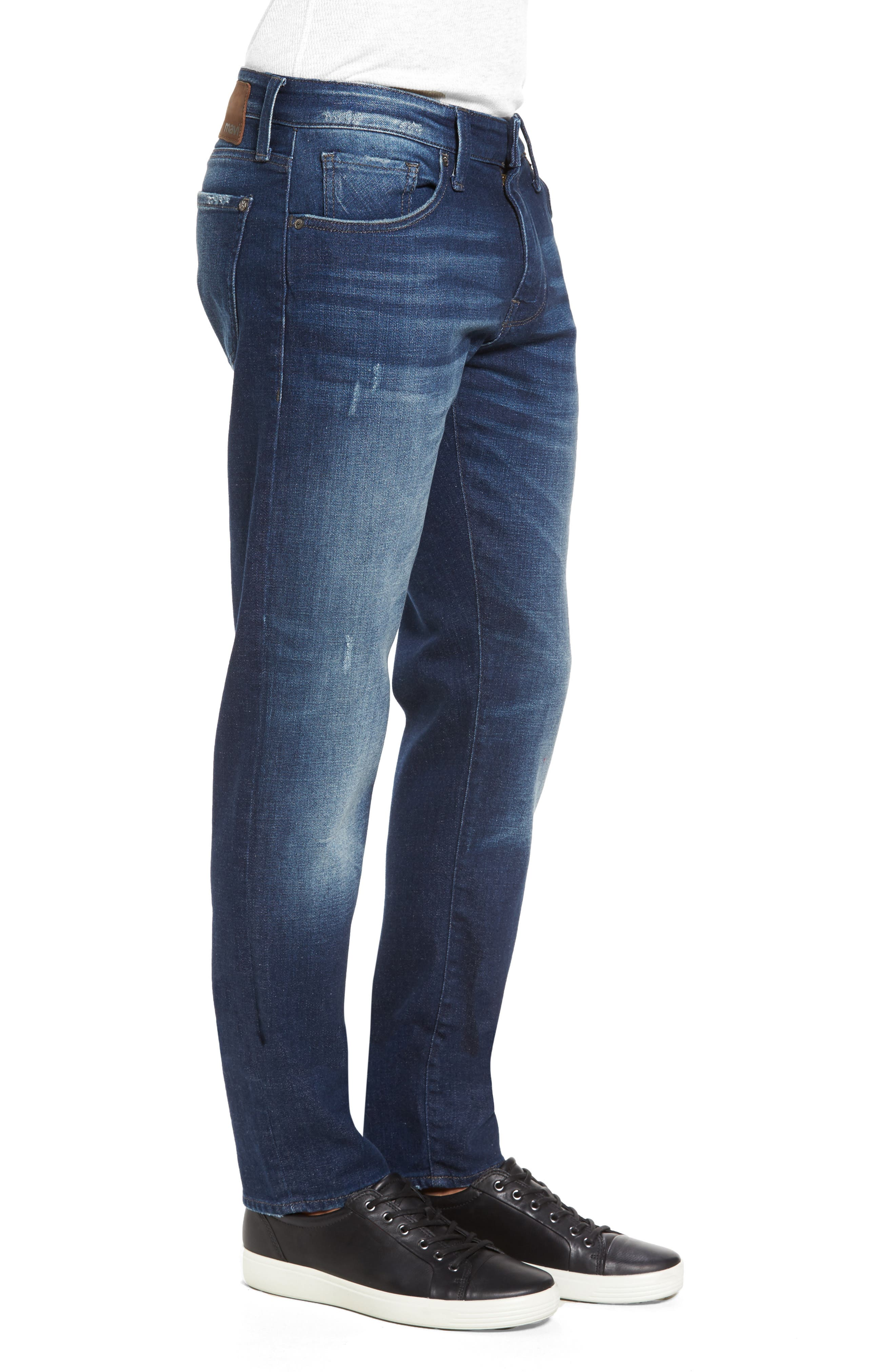 Alternate Image 3  - Mavi Jeans Jake Easy Slim Fit Jeans (Dark Brooklyn)
