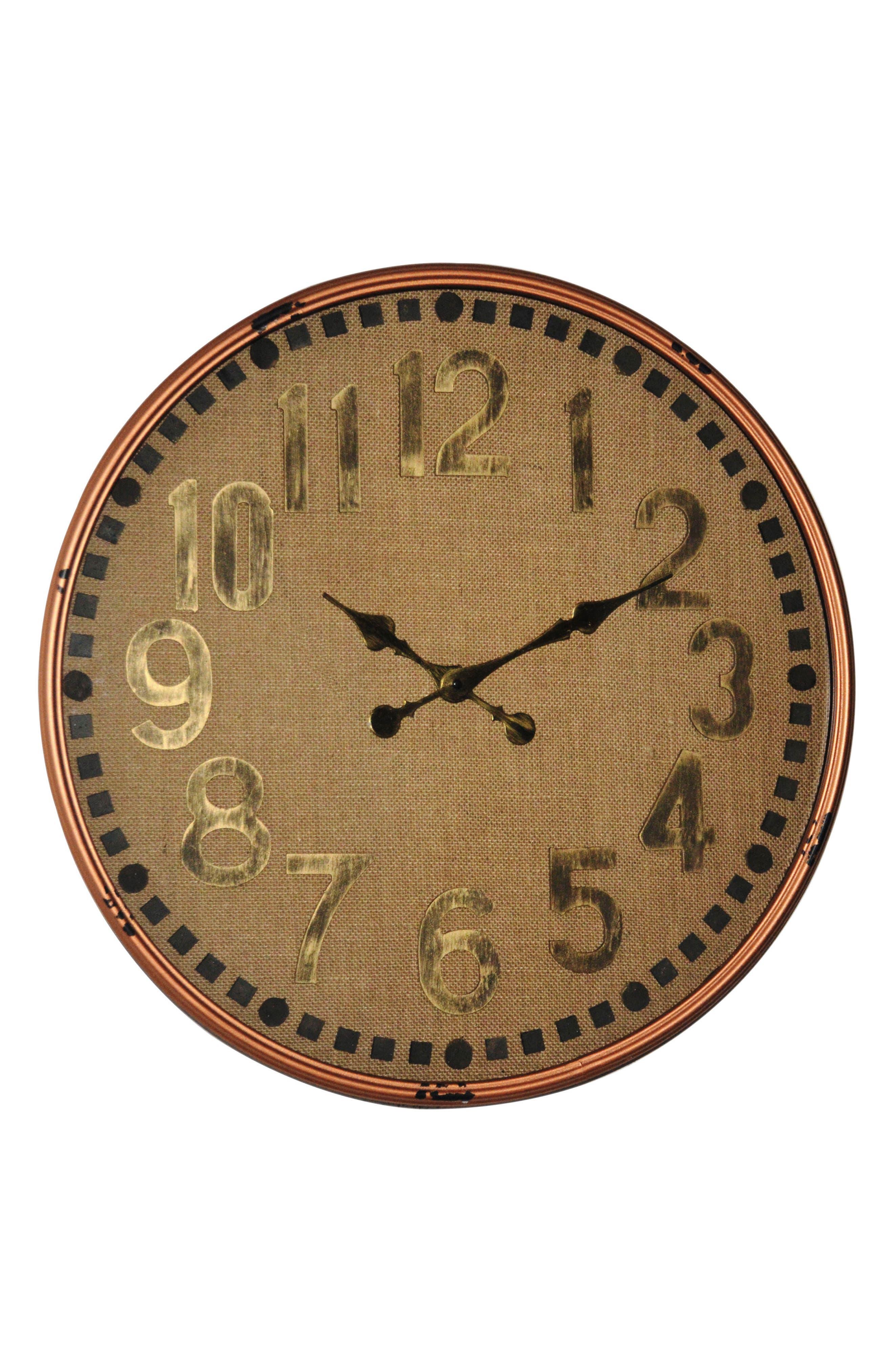 Memphis Wall Clock,                         Main,                         color, Metal/ Fabric
