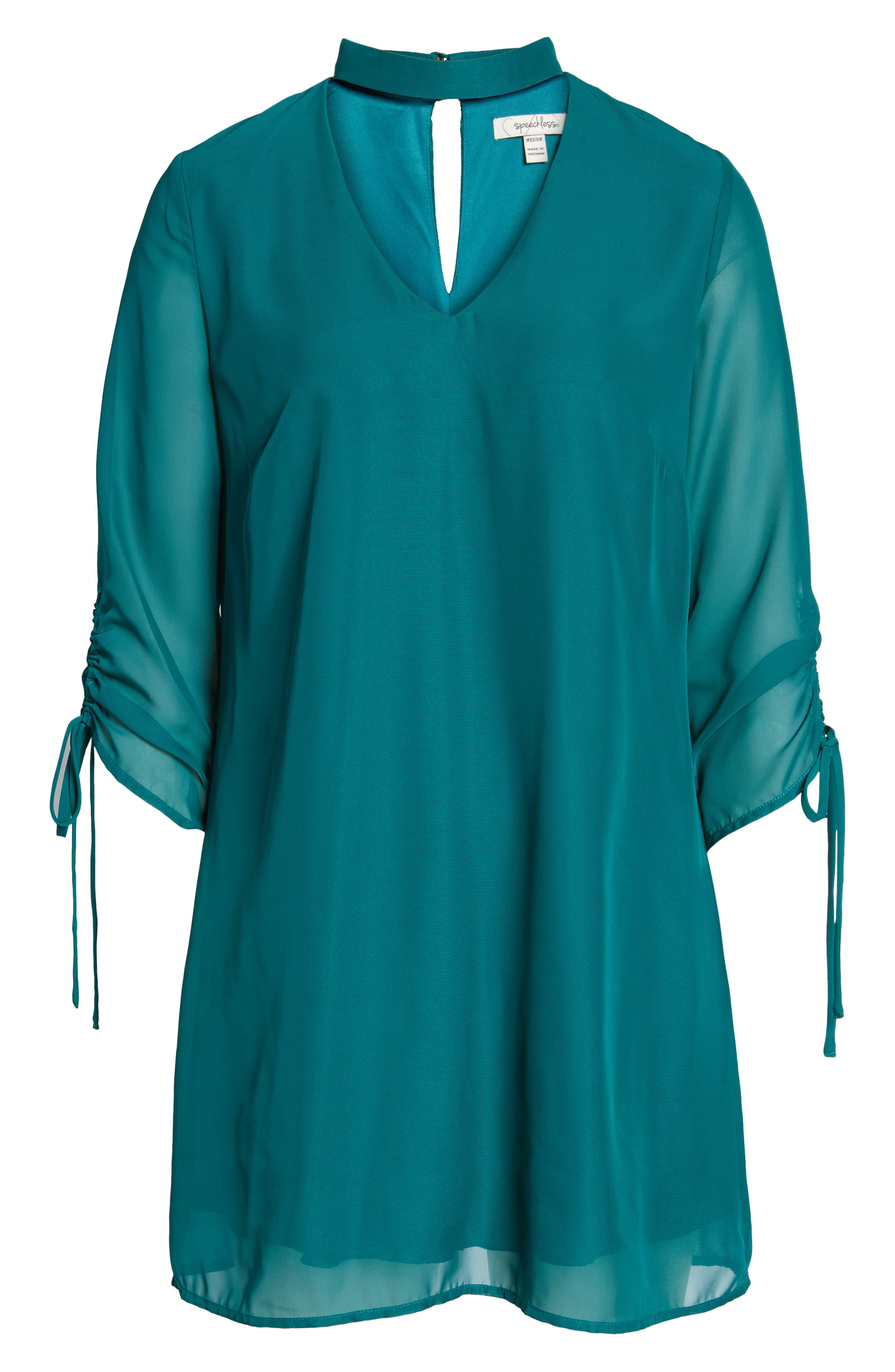 Gigi Choker Shift Dress,                             Alternate thumbnail 6, color,                             Light Jade