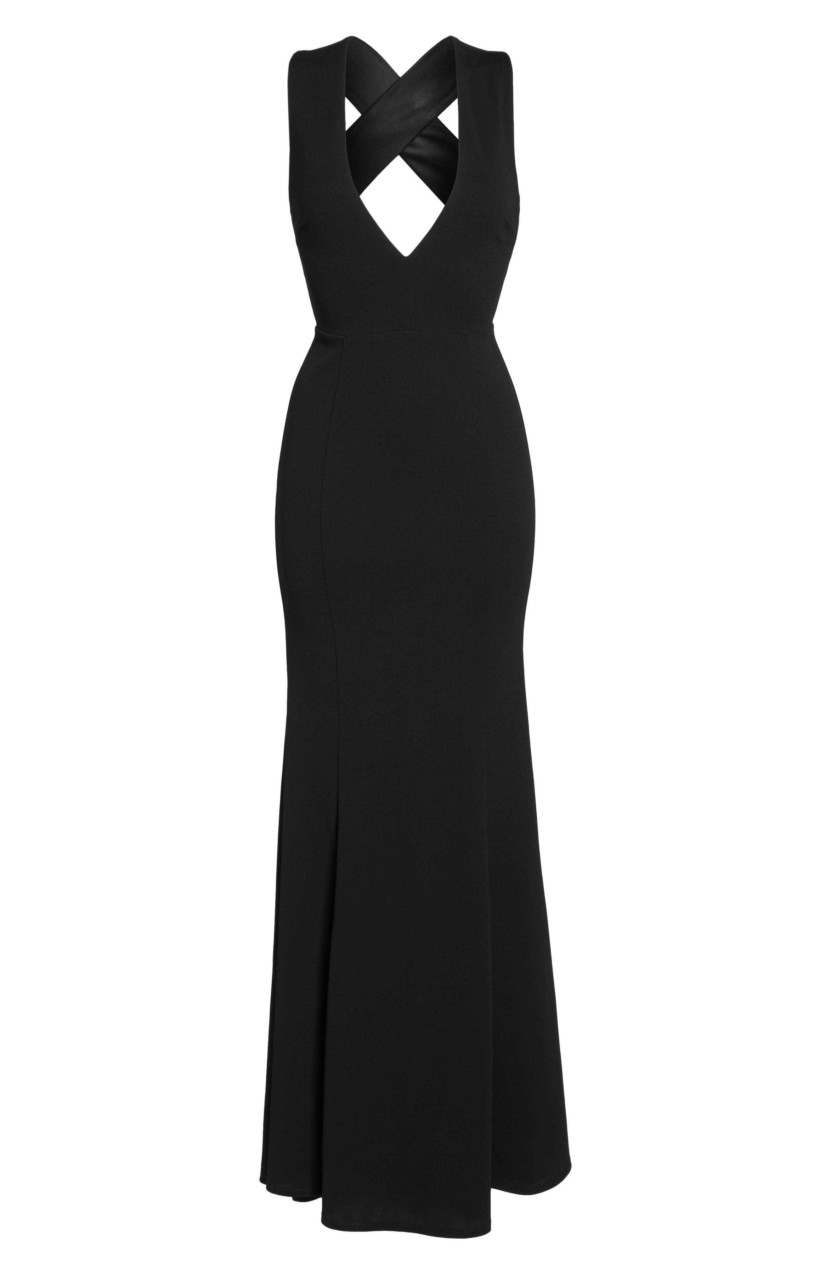 Lulus Heaven & Earth Plunge Neck Gown