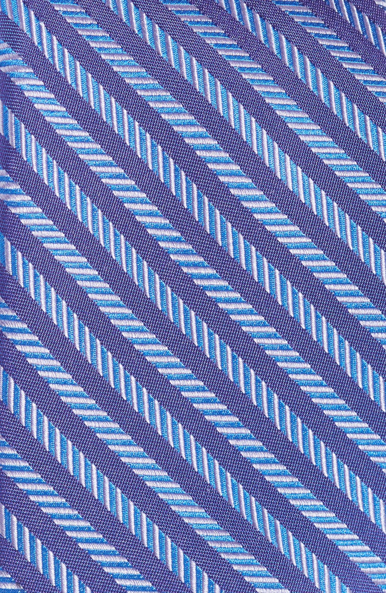 Alternate Image 2  - Michael Kors Herringbone Stripe Silk Tie (Boys)
