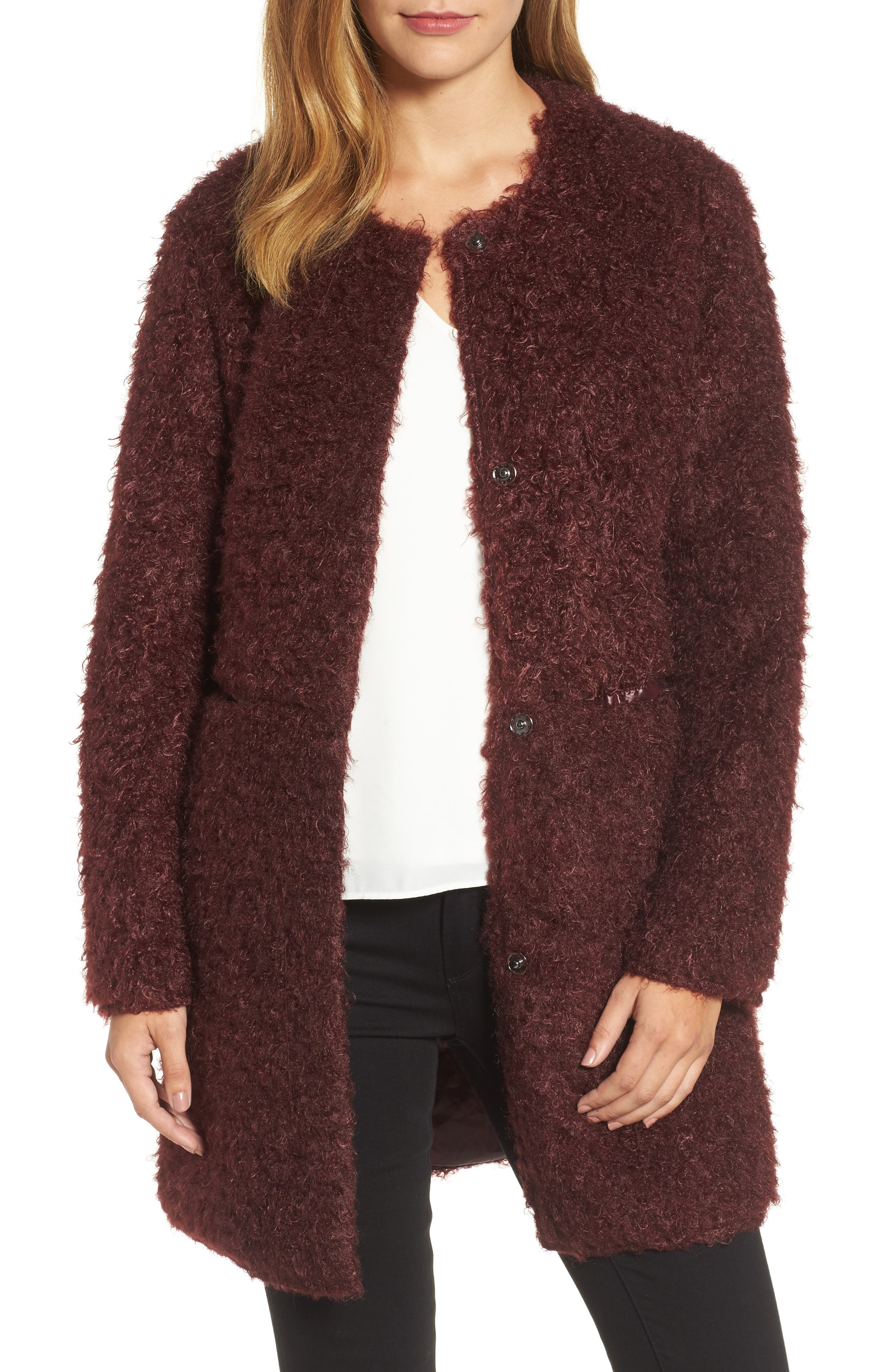 Alternate Image 1 Selected - Via Spiga Reversible Faux Fur Coat