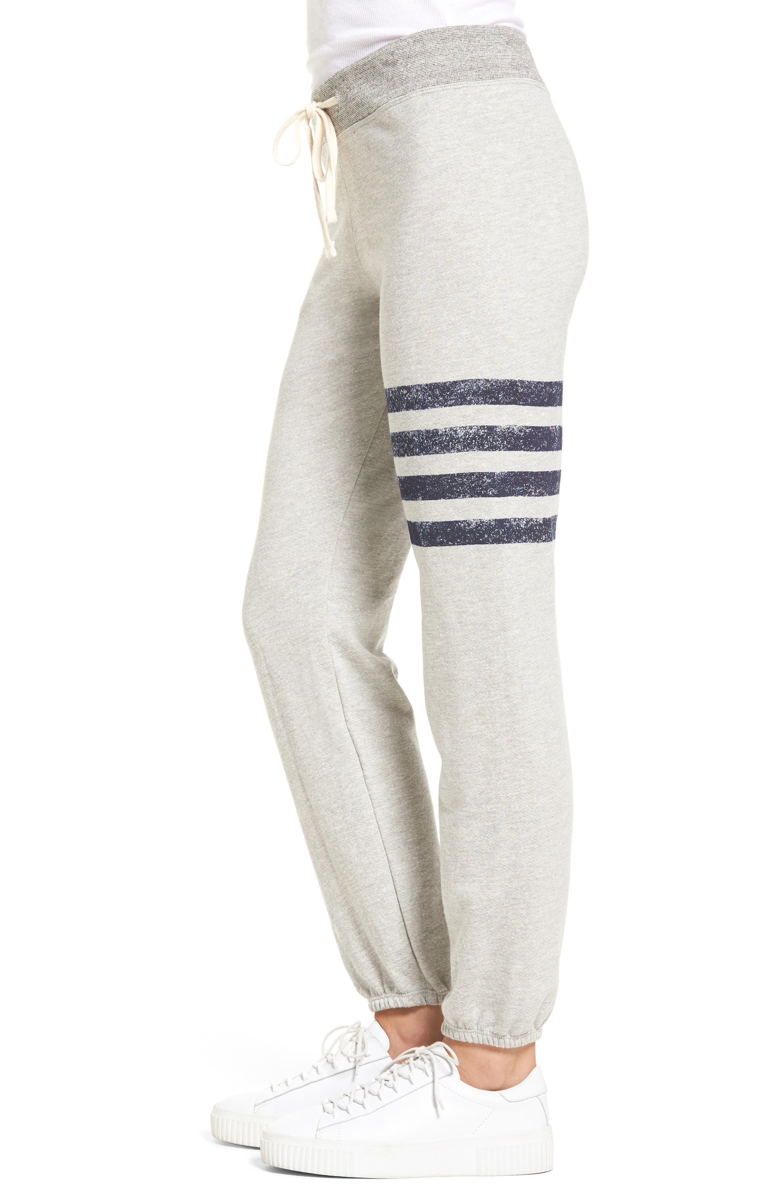 Stripe Yoga Pants,                             Alternate thumbnail 3, color,                             Soft Black