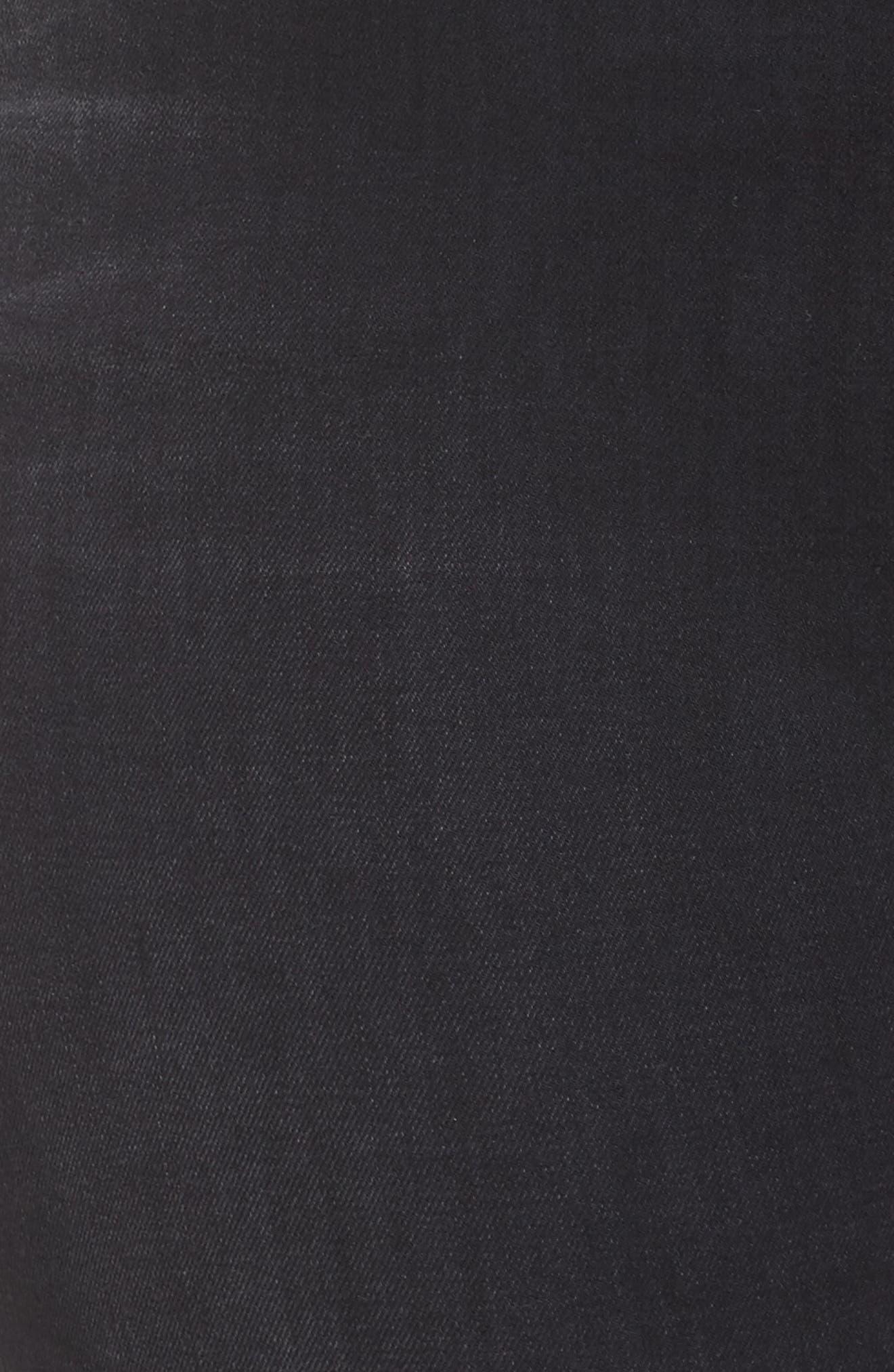 Alternate Image 8  - Good American Good Waist Fray Hem Skinny Jeans (Black 012) (Extended Sizes)