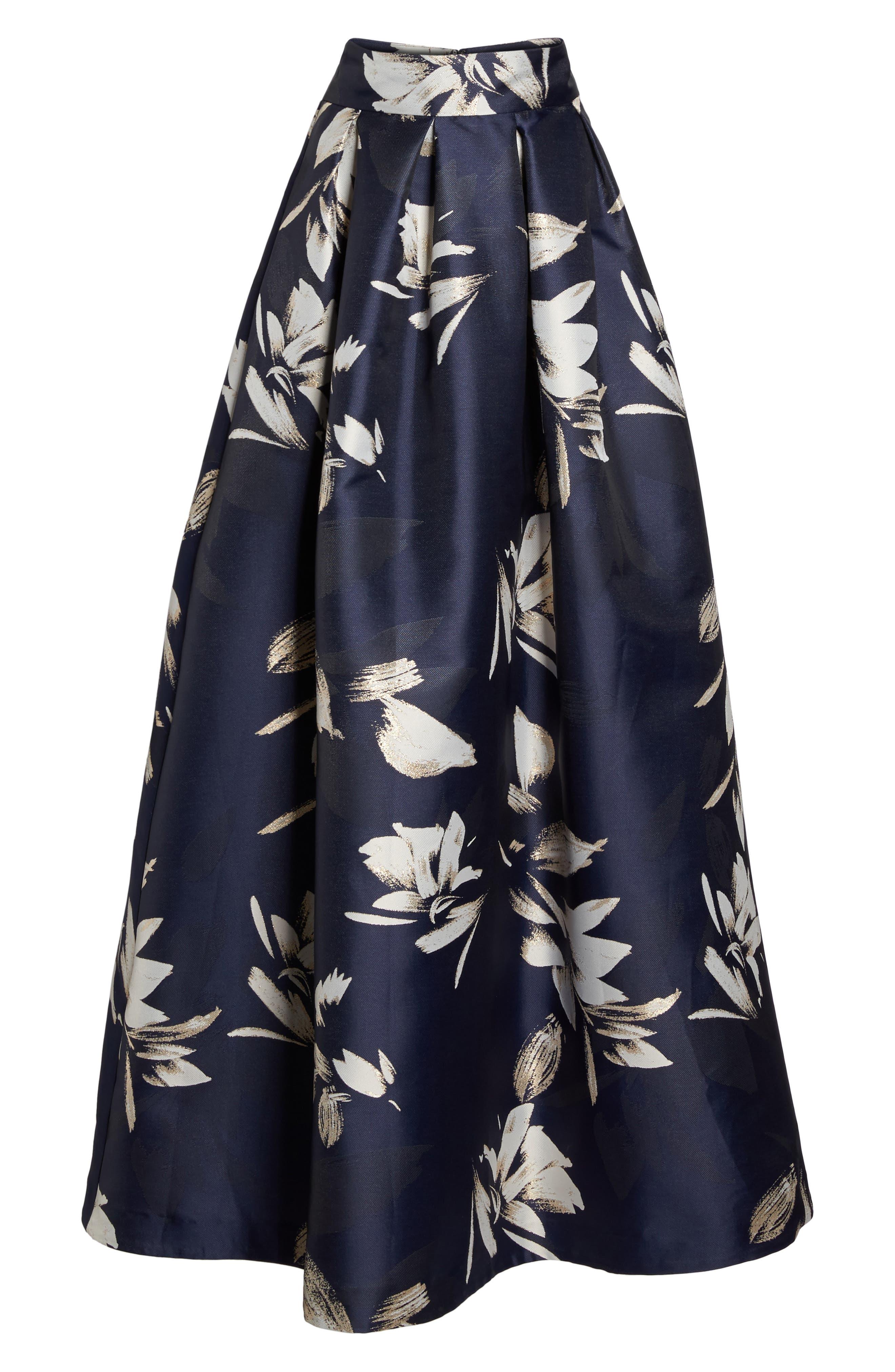 Eliza J Metallic Jacquard Ball Skirt