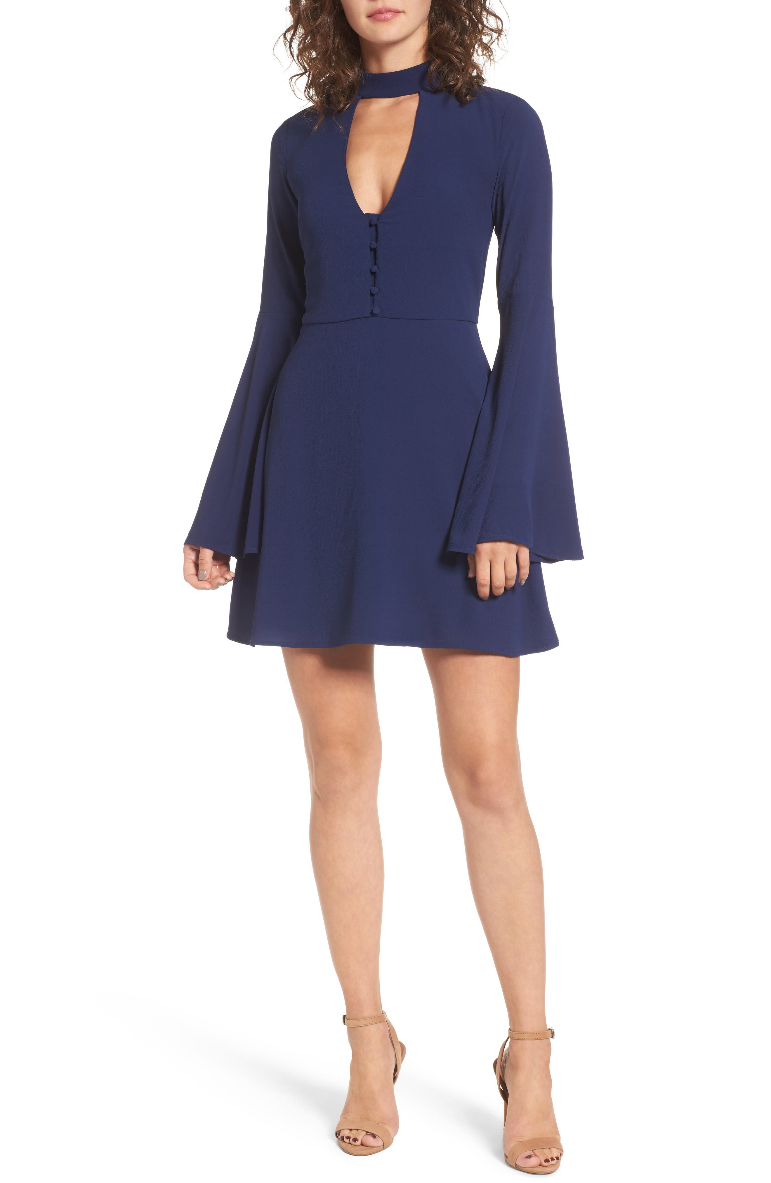 Main Image - Socialite Harper Bell Sleeve Dress