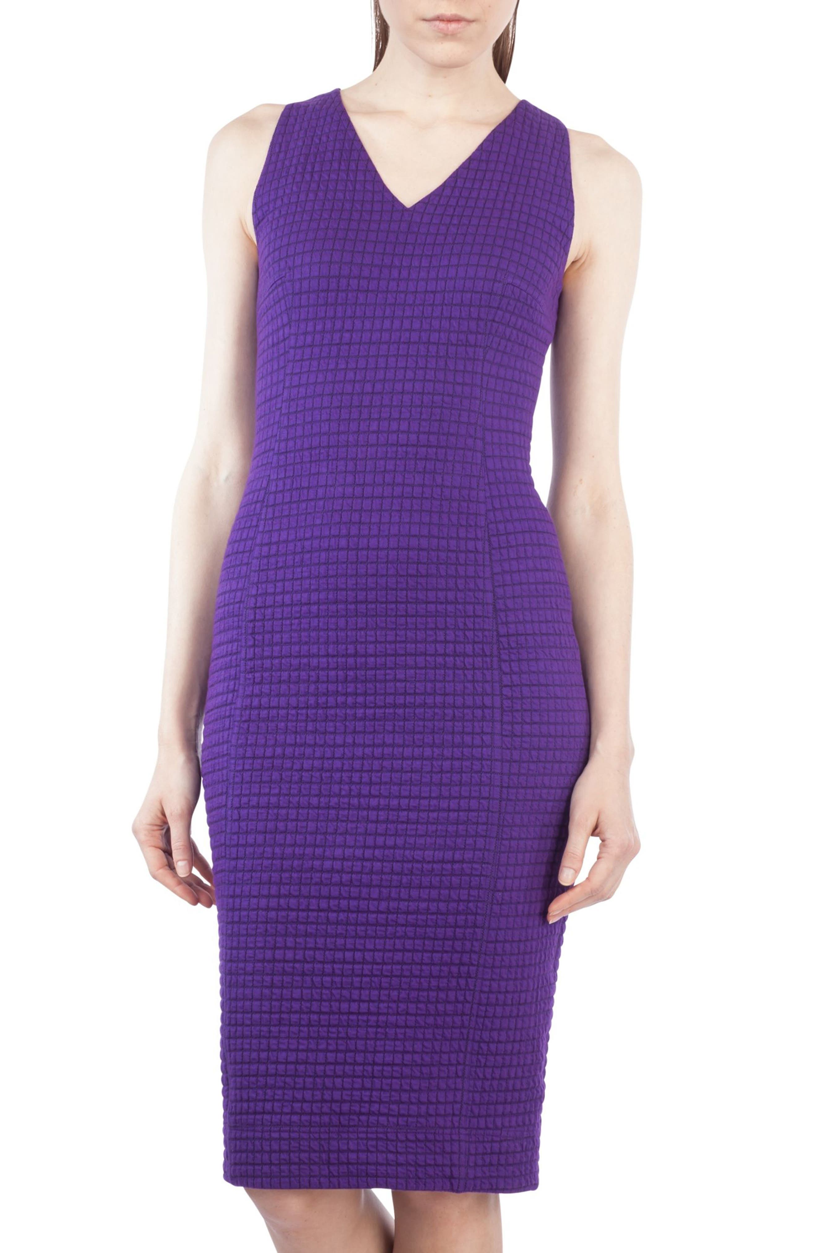 Waffle Jersey Dress,                             Main thumbnail 1, color,                             Purple Orchid
