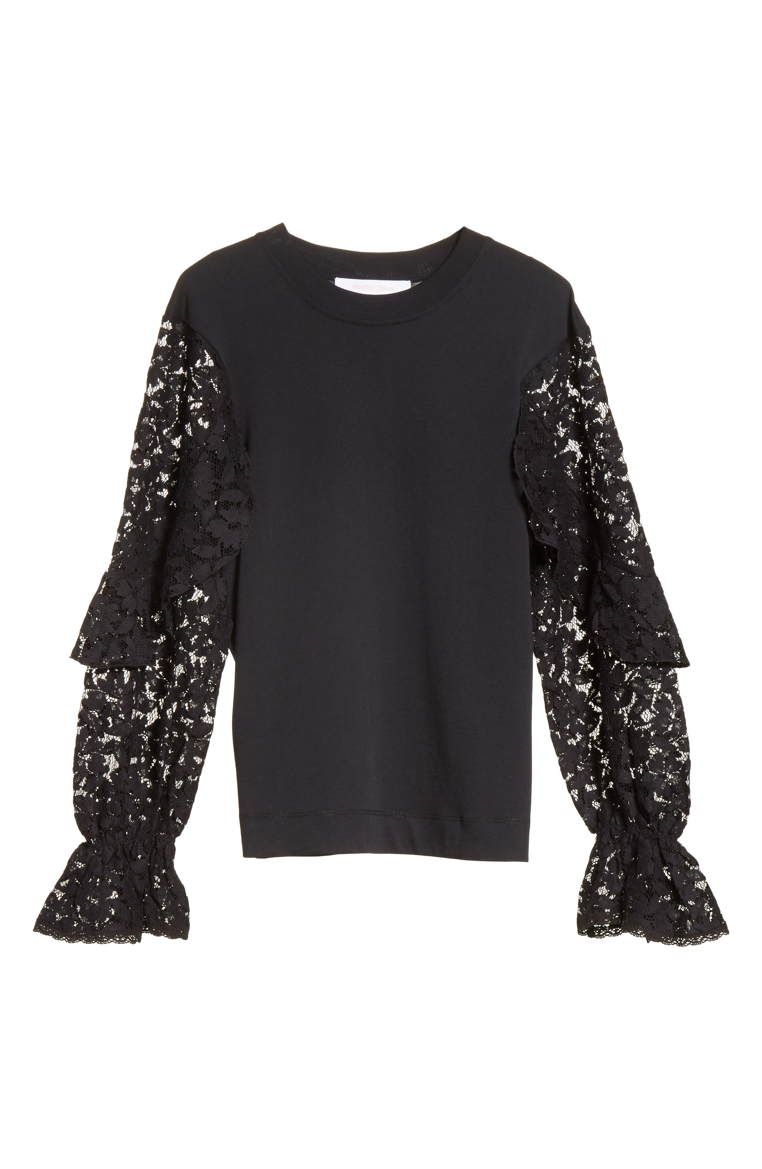 Alternate Image 6  - See by Chloé Ruffle Sleeve Sweater