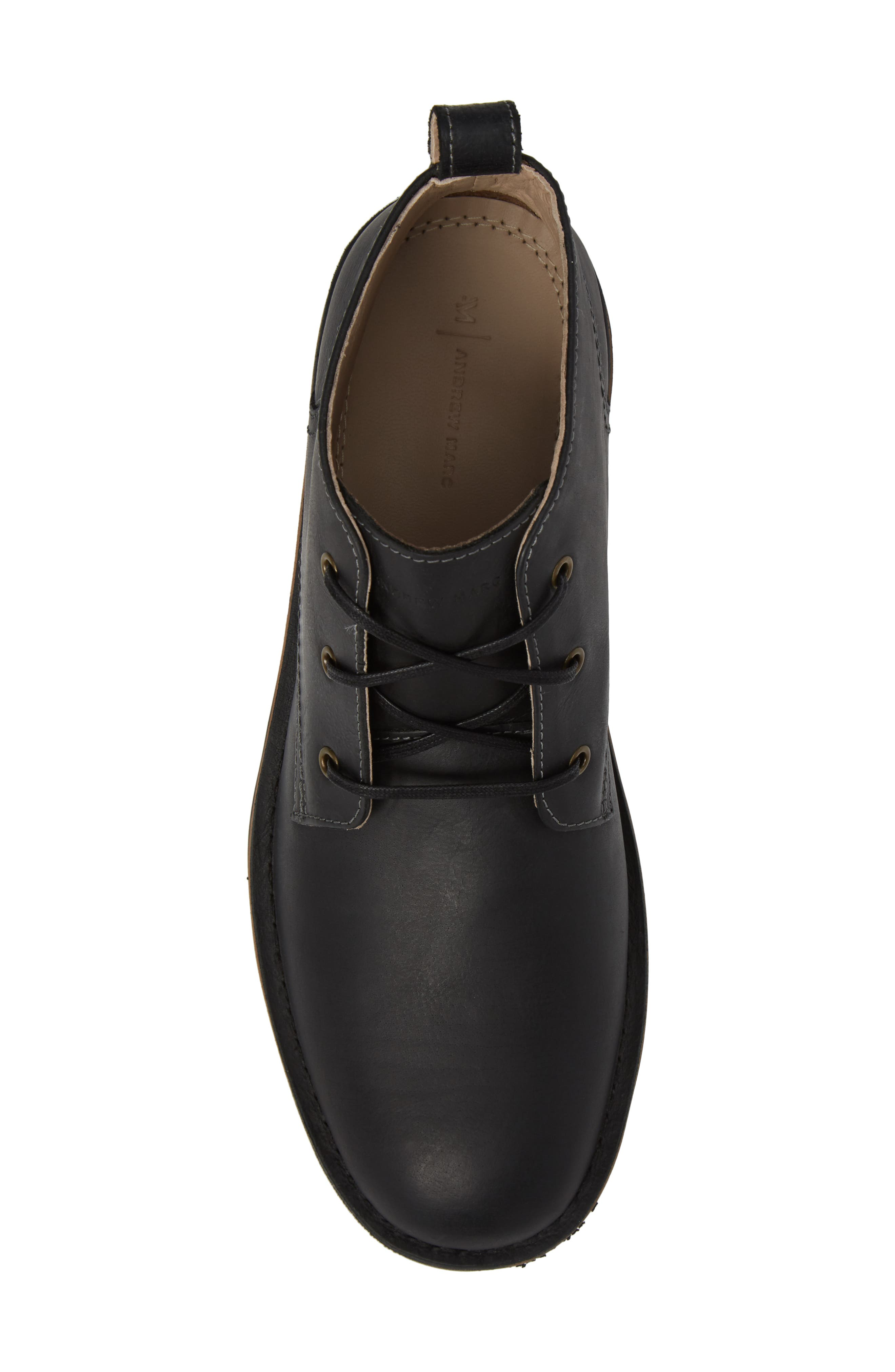 Dorchester Chukka Boot,                             Alternate thumbnail 5, color,                             Black Leather