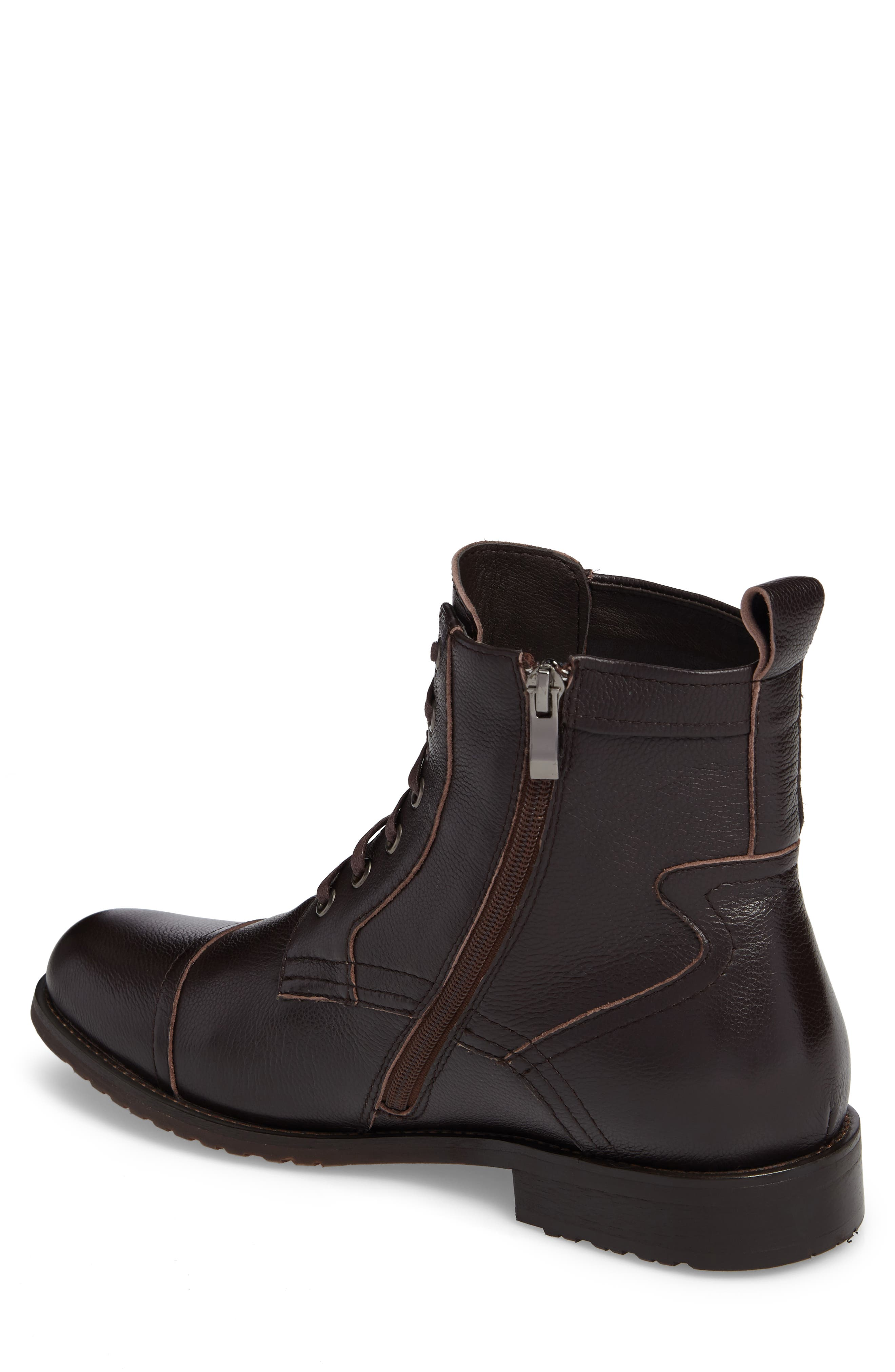 Cap Toe Boot,                             Alternate thumbnail 2, color,                             Brown Leather
