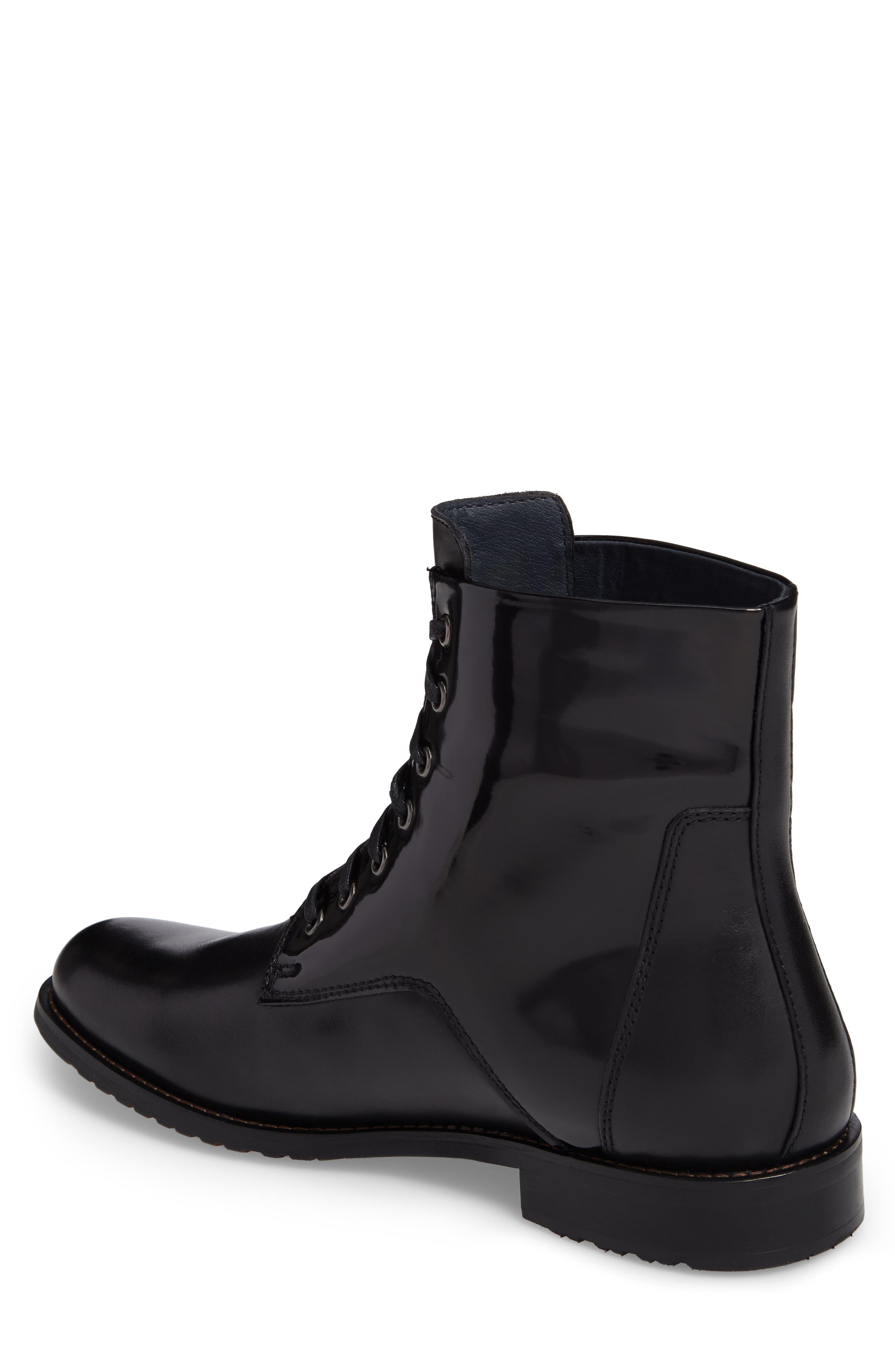 Athol Plain Toe Boot,                             Alternate thumbnail 2, color,                             Black Leather