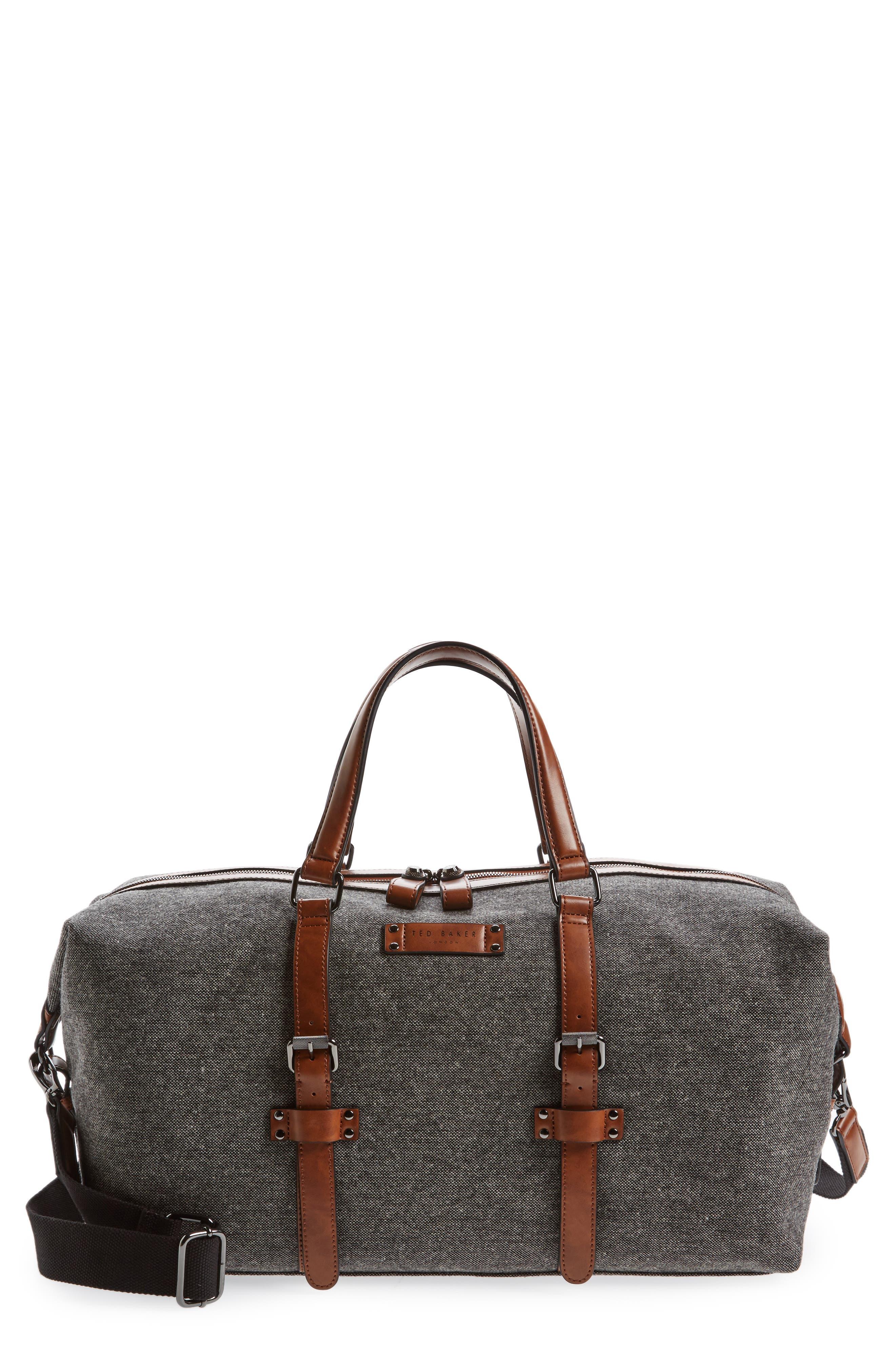Tailor Wool Duffel Bag,                             Main thumbnail 1, color,                             Grey