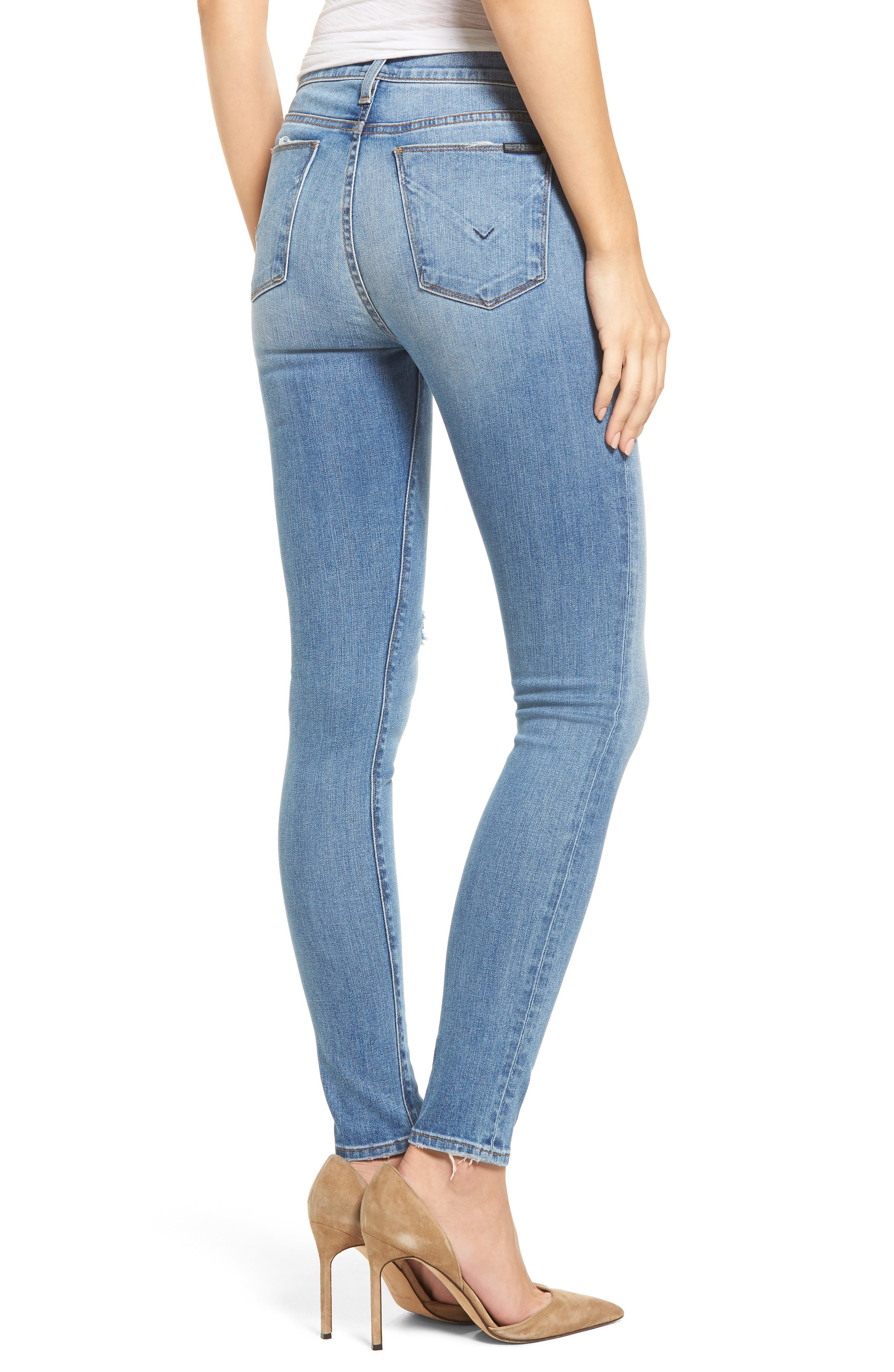 Barbara High Waist Super Skinny Jeans,                             Alternate thumbnail 2, color,                             Movement