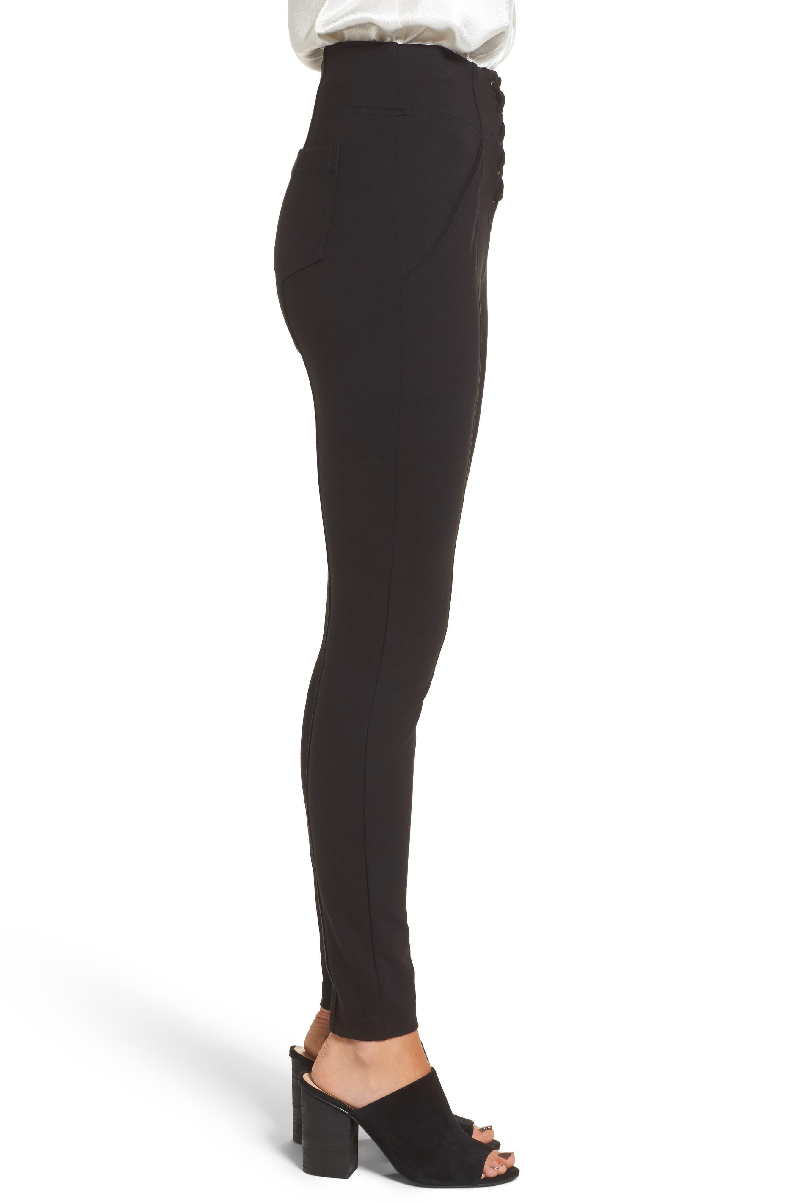 Alternate Image 3  - Ella Moss Lace-Up Skinny Pants