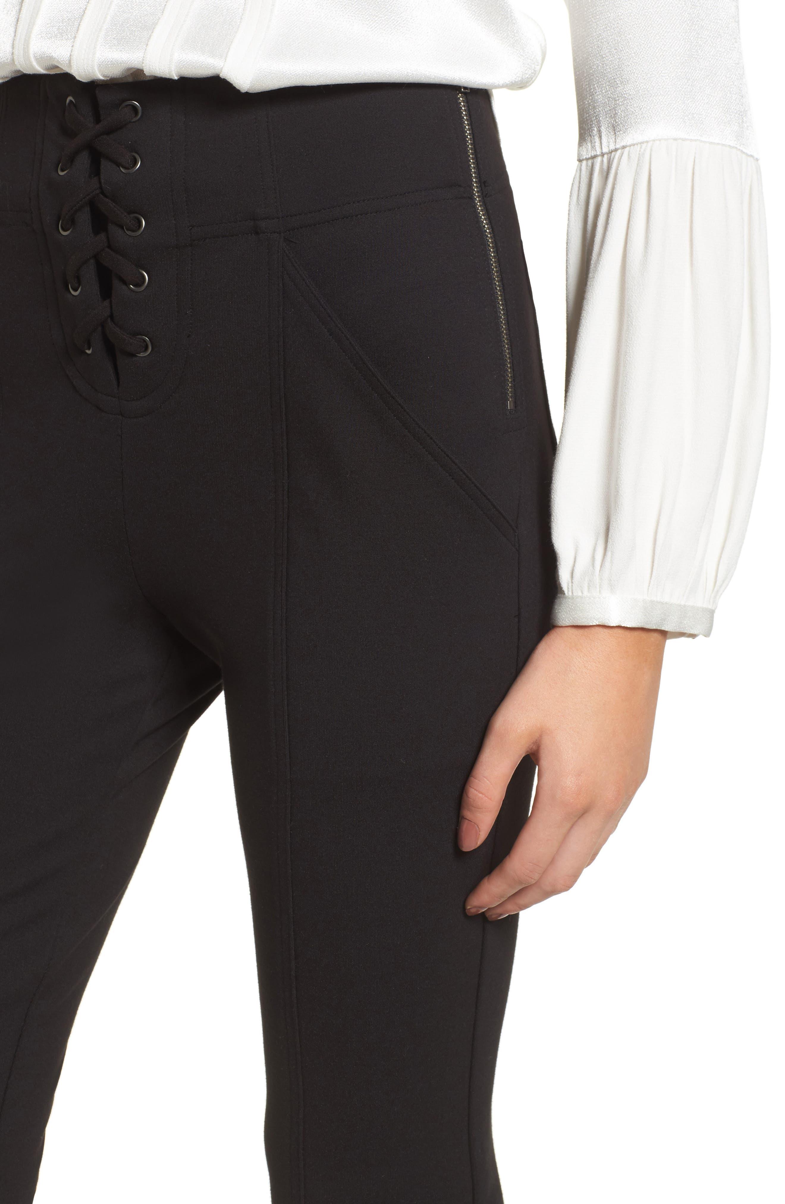 Alternate Image 4  - Ella Moss Lace-Up Skinny Pants