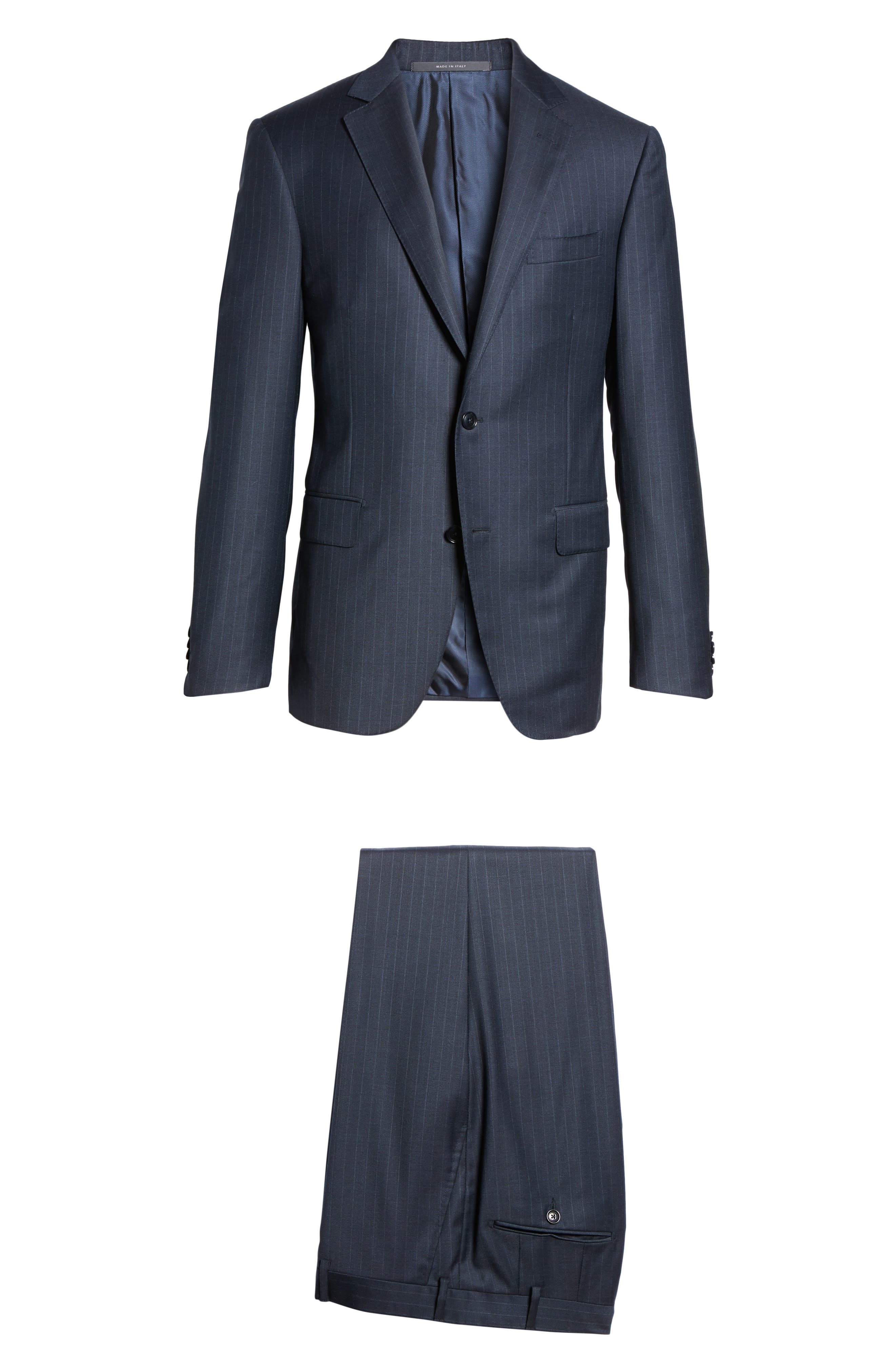 Alternate Image 8  - Pal Zileri Classic Fit Banker Stripe Wool Suit