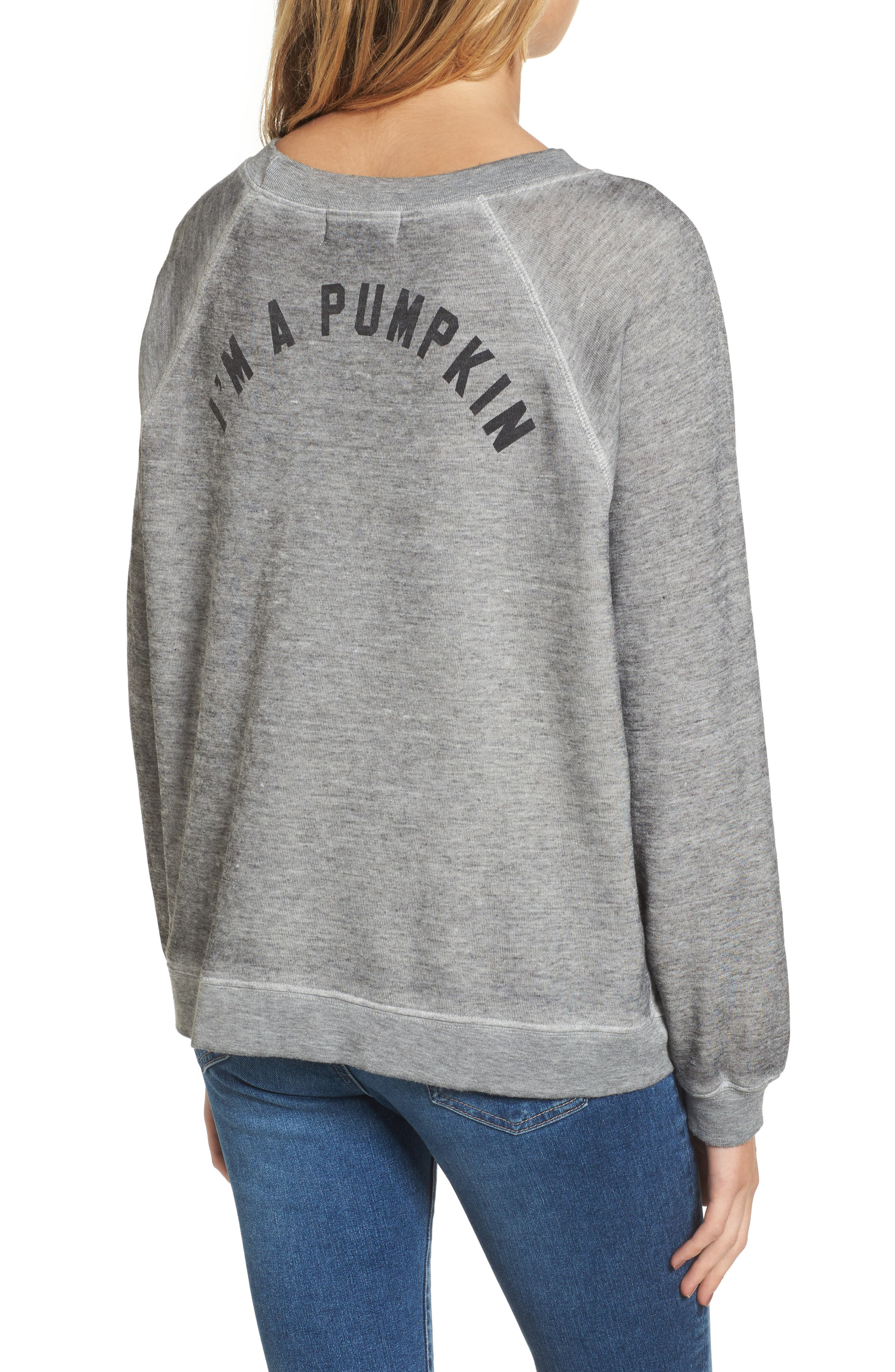I'm a Pumpkin Sommers Sweatshirt,                             Alternate thumbnail 2, color,                             Heather